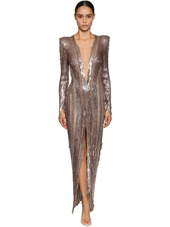 JULIEN MACDONALD Sequins & Beads Embellished Dress