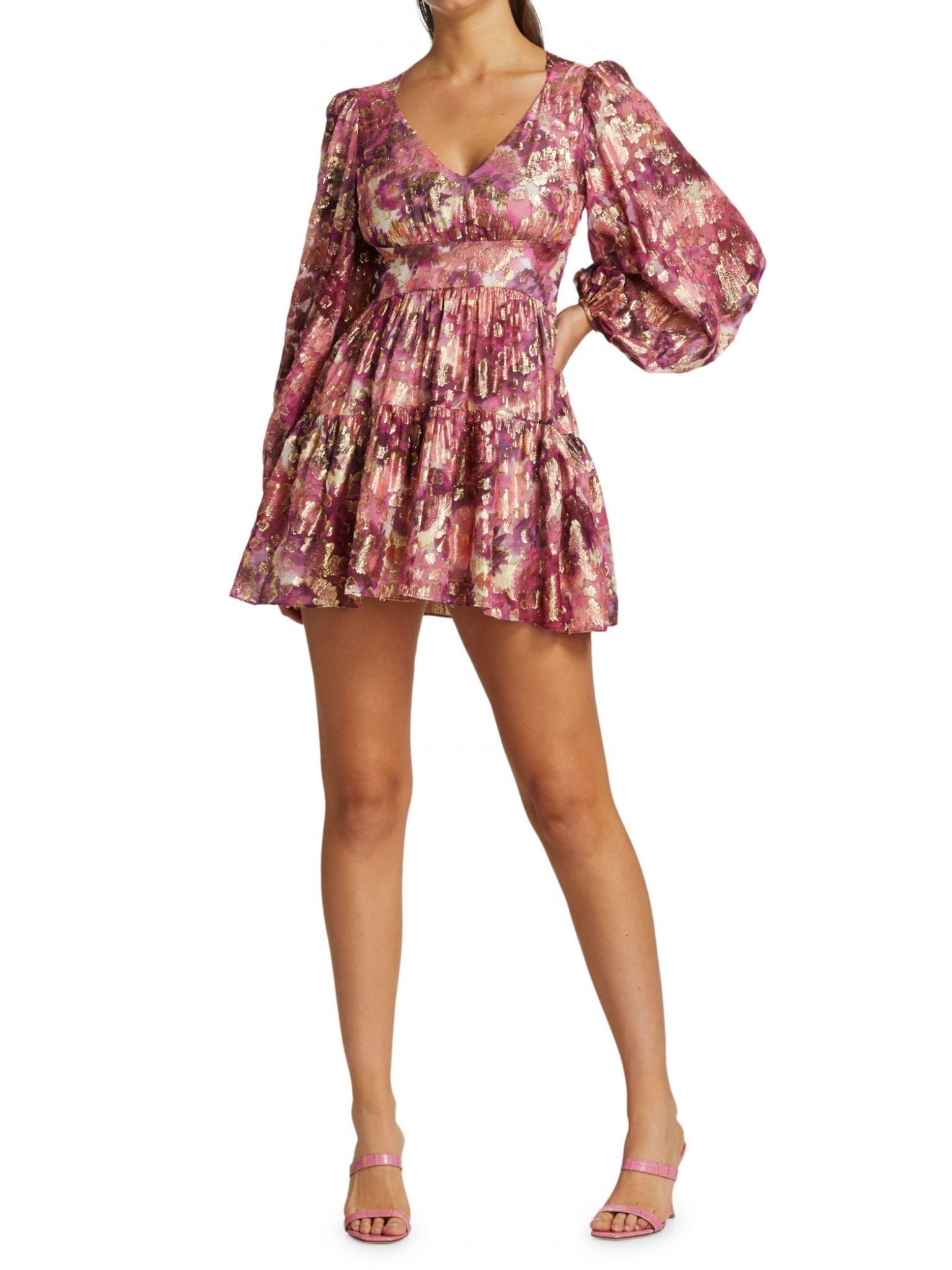 LOVESHACKFANCY Willis Puff-Sleeve Mini Dress