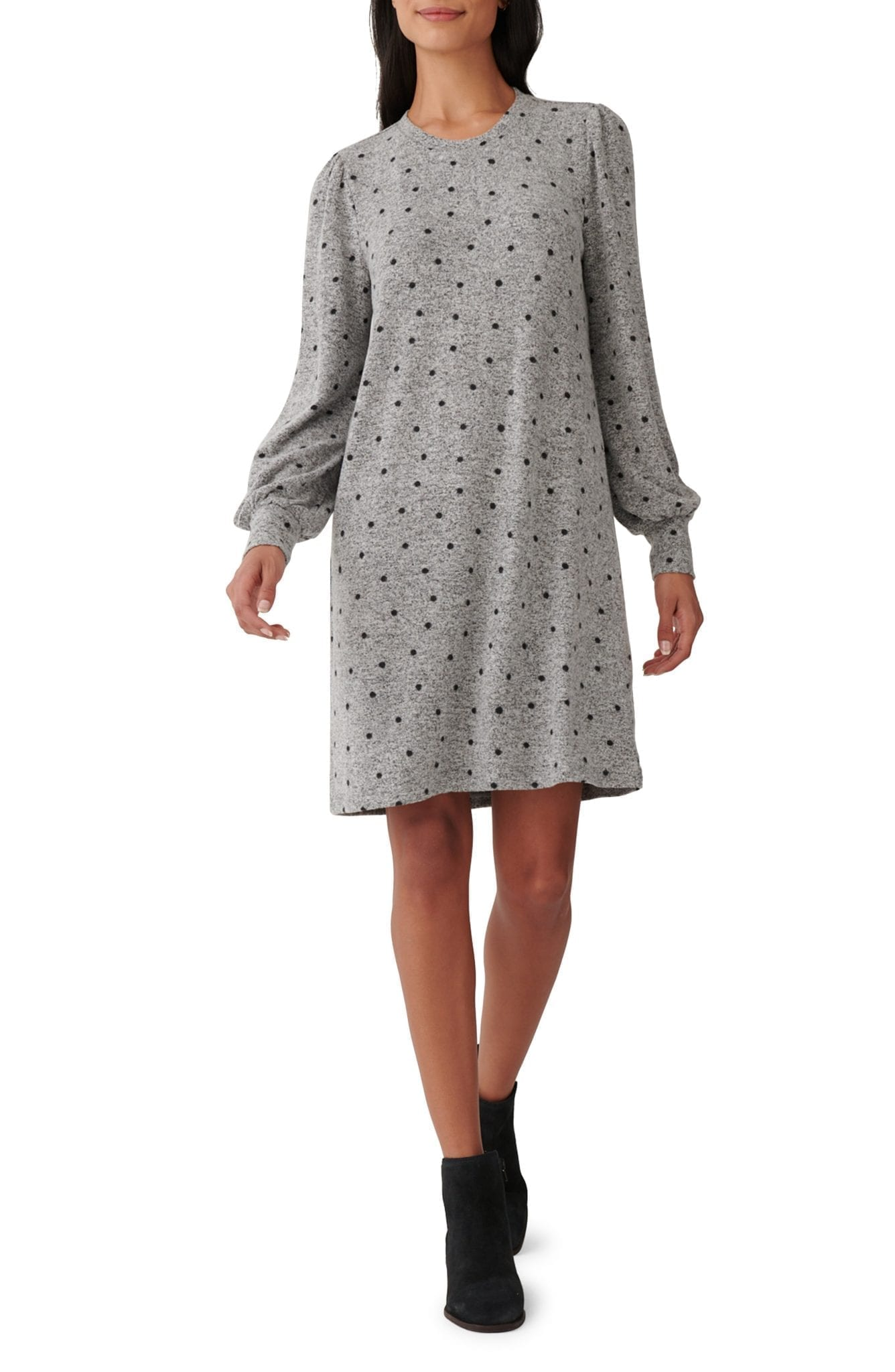 LUCKY BRAND Cozy Long Sleeve Knit Shift Dress