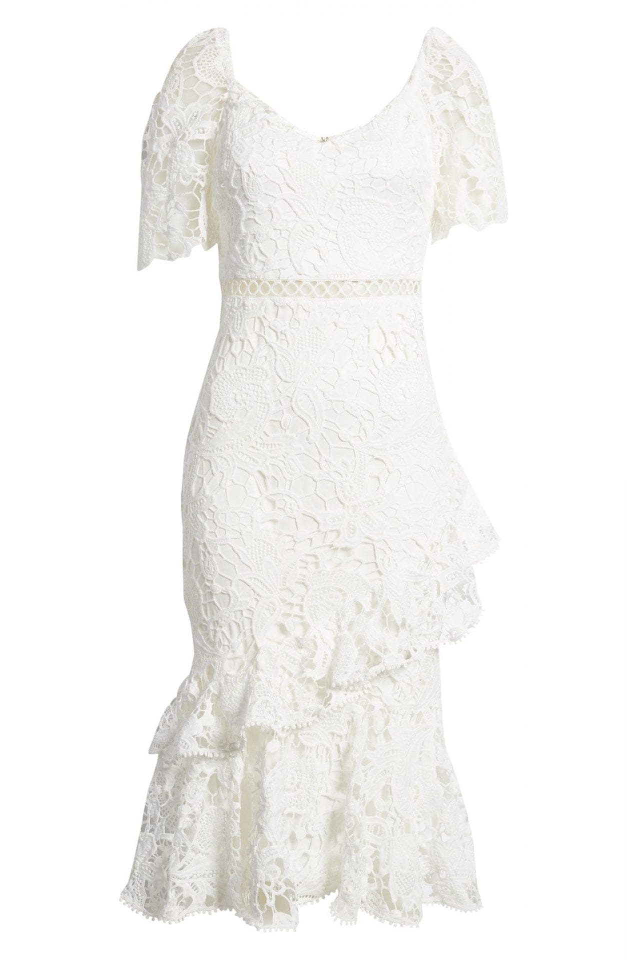 LULUS Briarwood Ruffle Lace Cocktail Dress