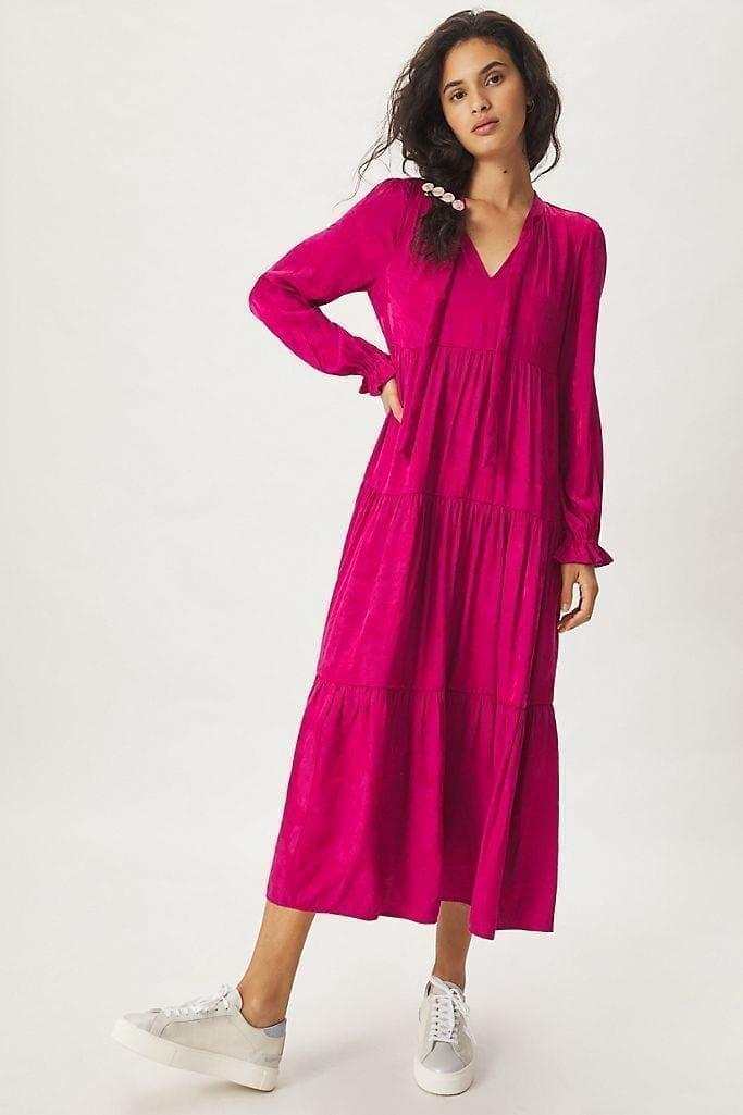 MAEVE Cassie Tiered Maxi Dress