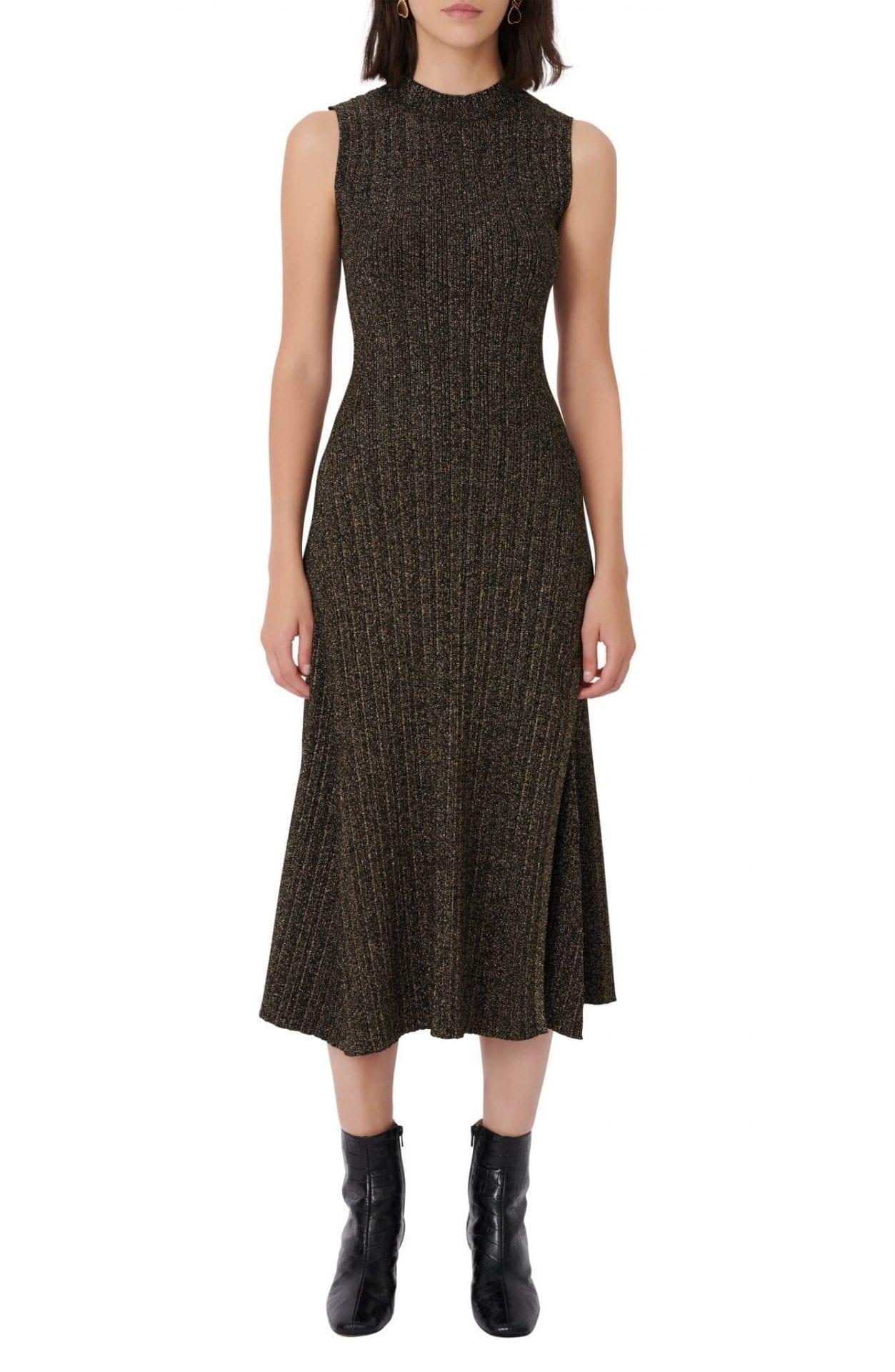MAJE Sparkle Knit Sleeveless Dress