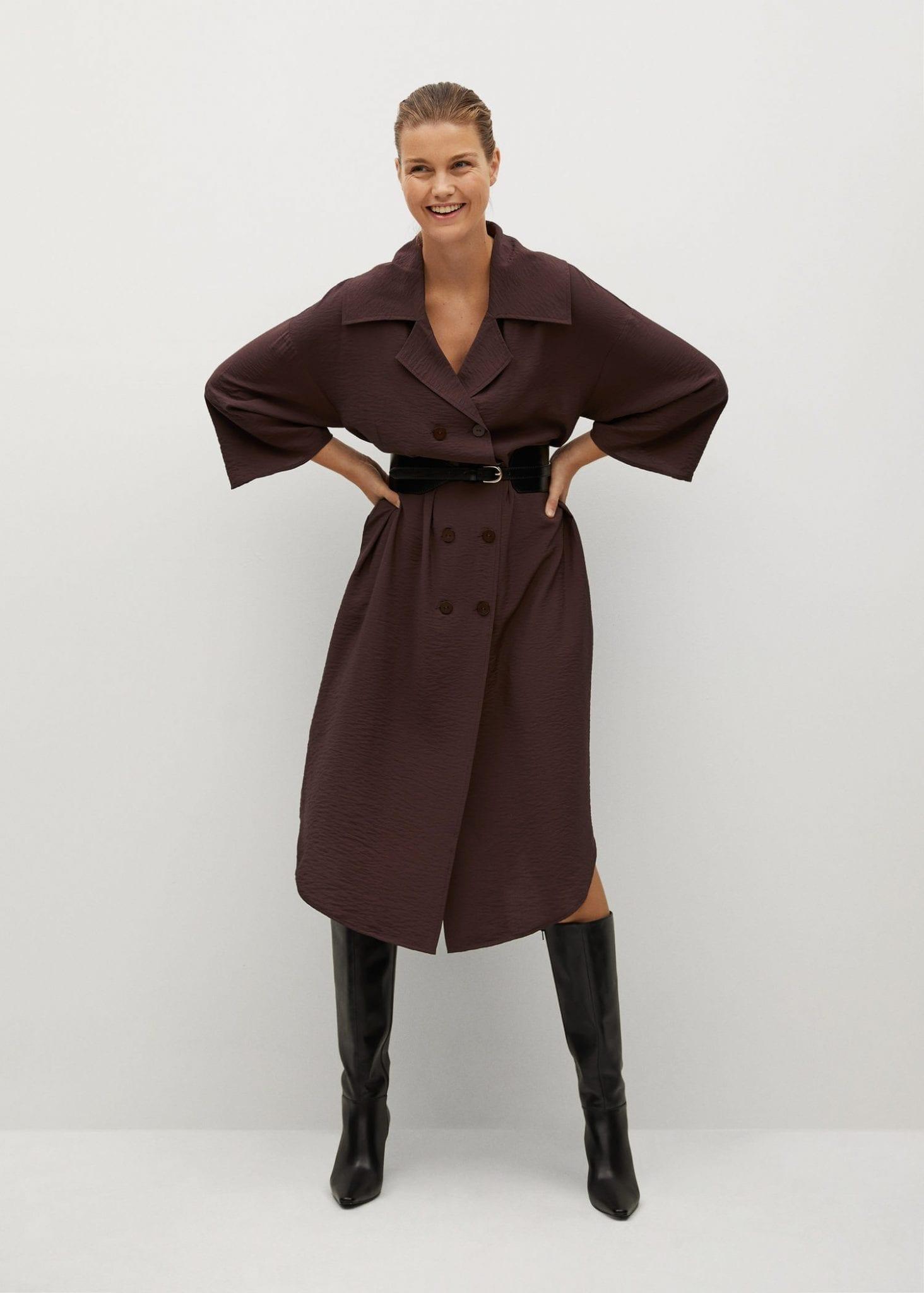 MANGO Double-breasted Dress