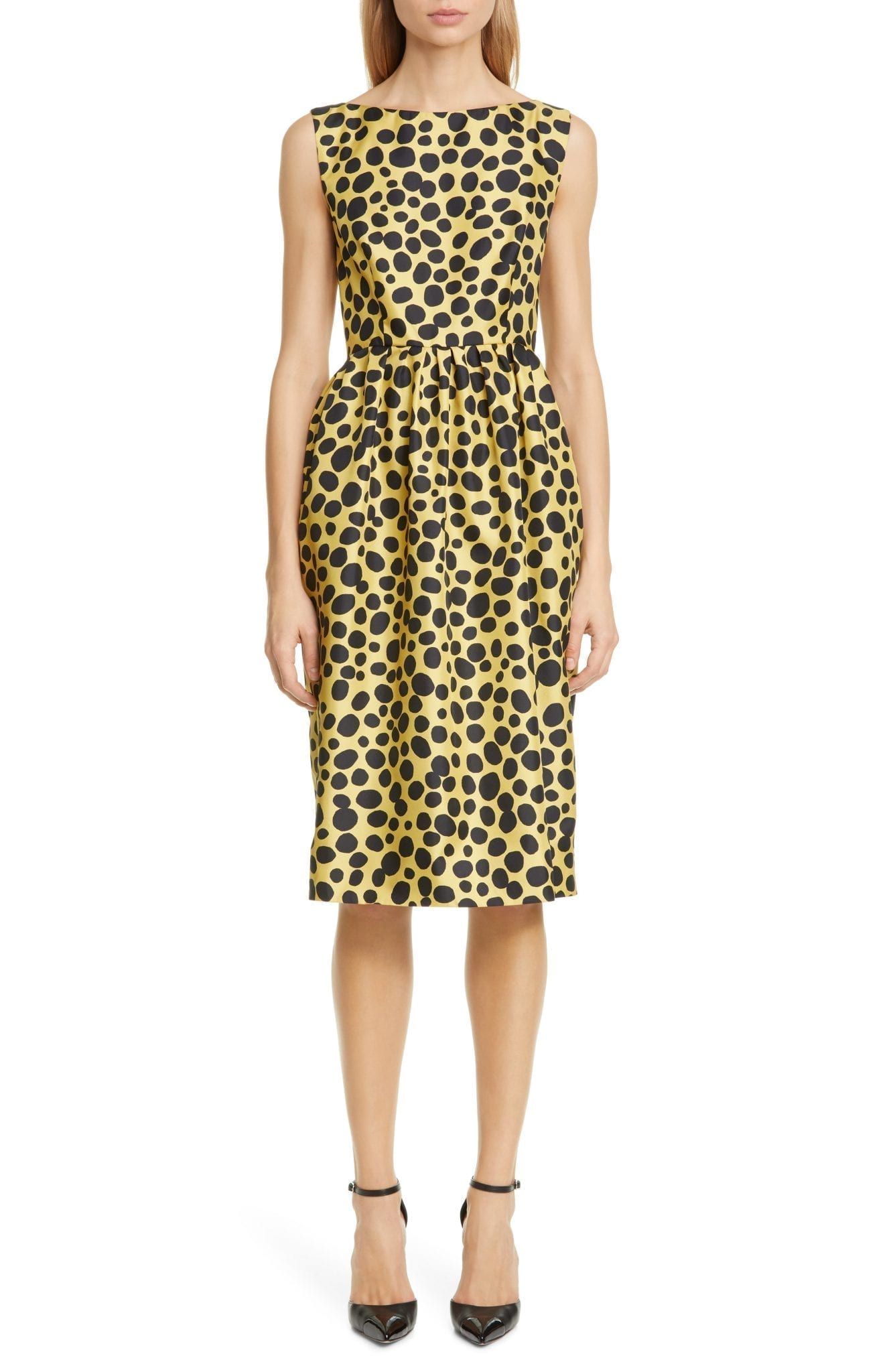 MARC JACOBS Spot Print Silk Dress