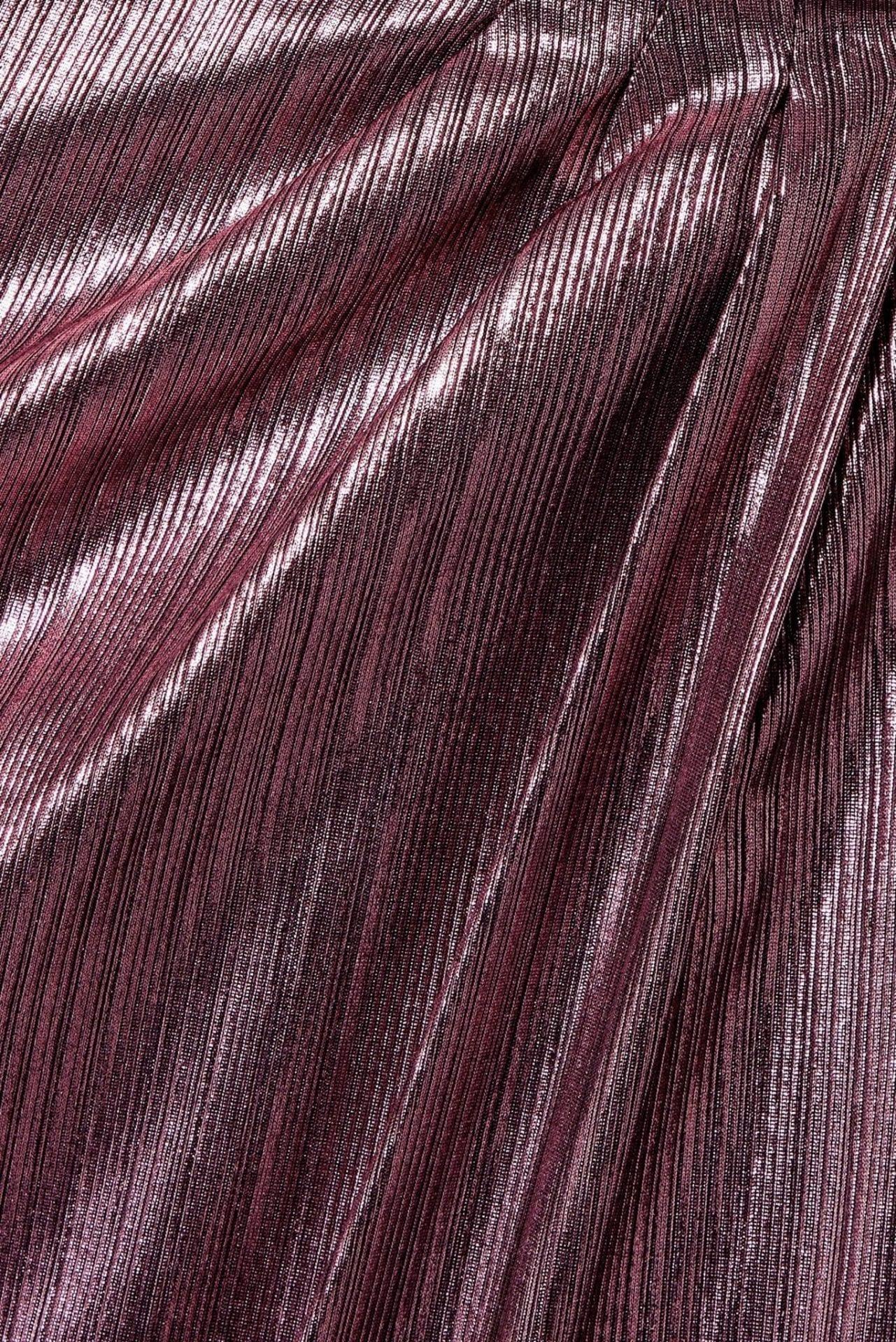 MARCHESA NOTTE One-shoulder Metallic Lamé Gown