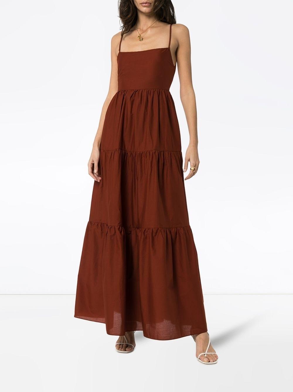 MATTEAU Tiered Maxi Dress