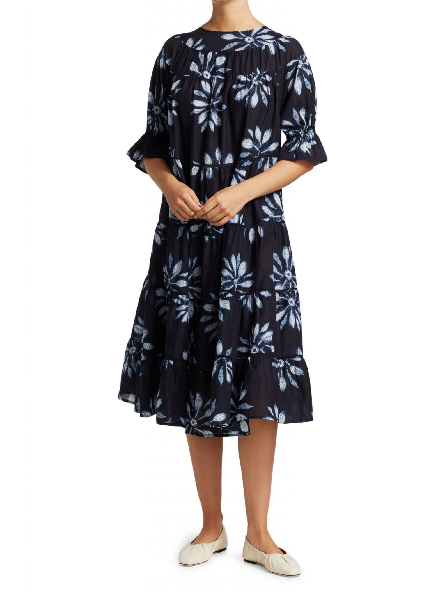 MERLETTE Paradis Shibori Midi Dress