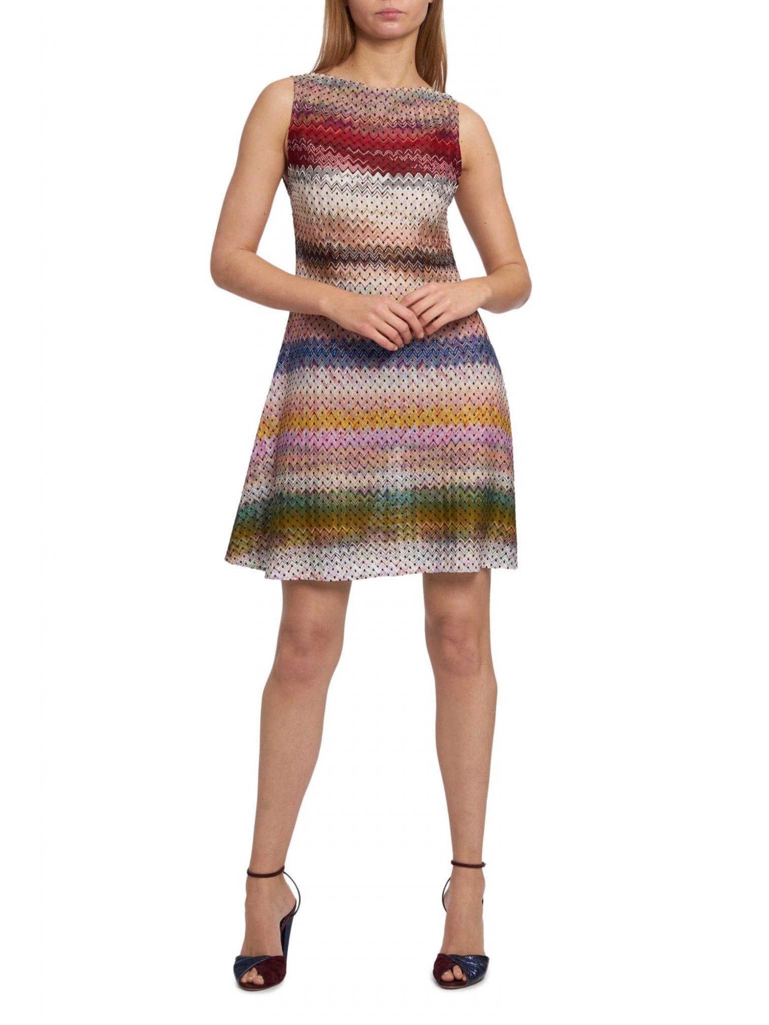 MISSONI Chevron & Polka Dot Shift Dress