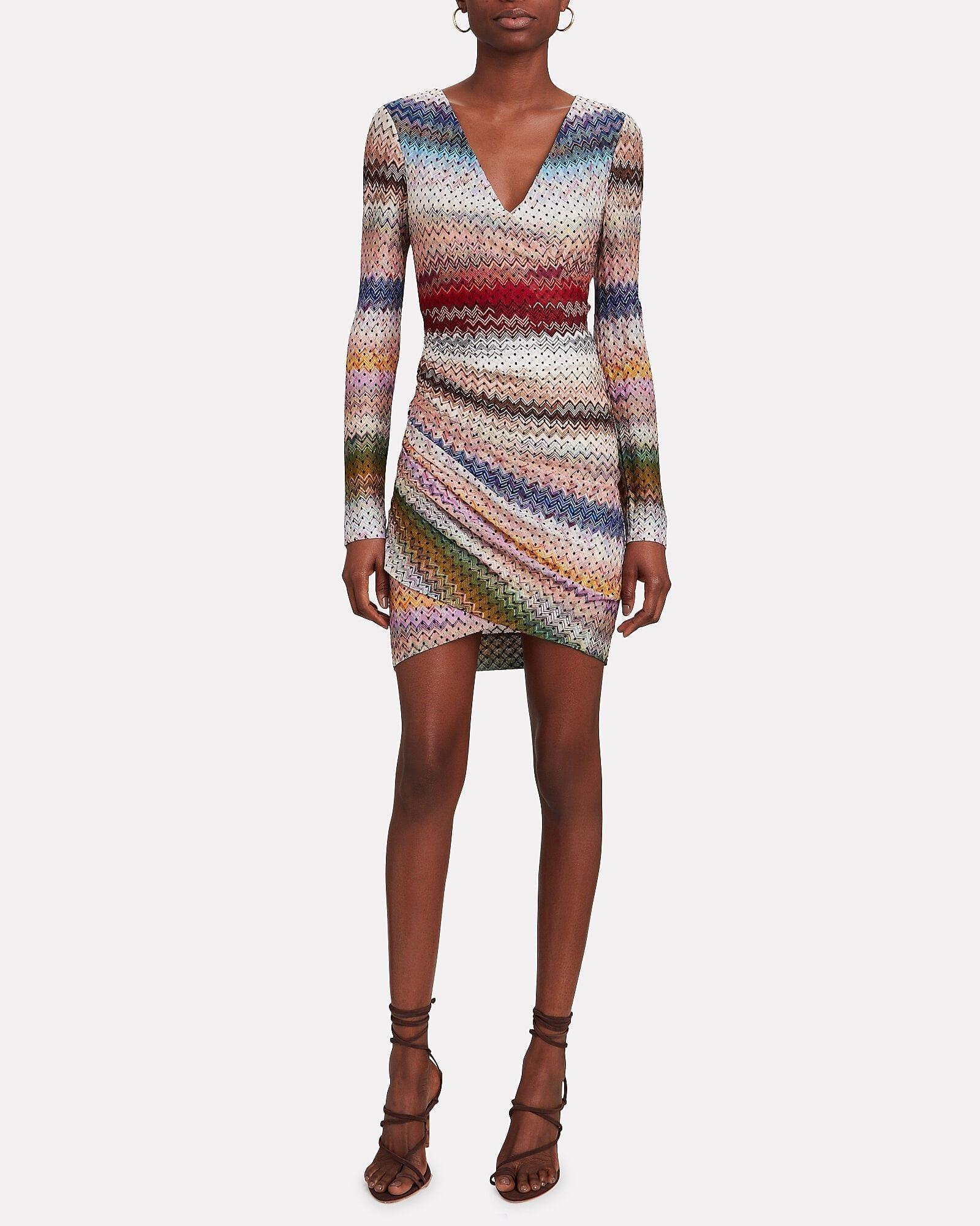 MISSONI Knit Wrap Mini Dress
