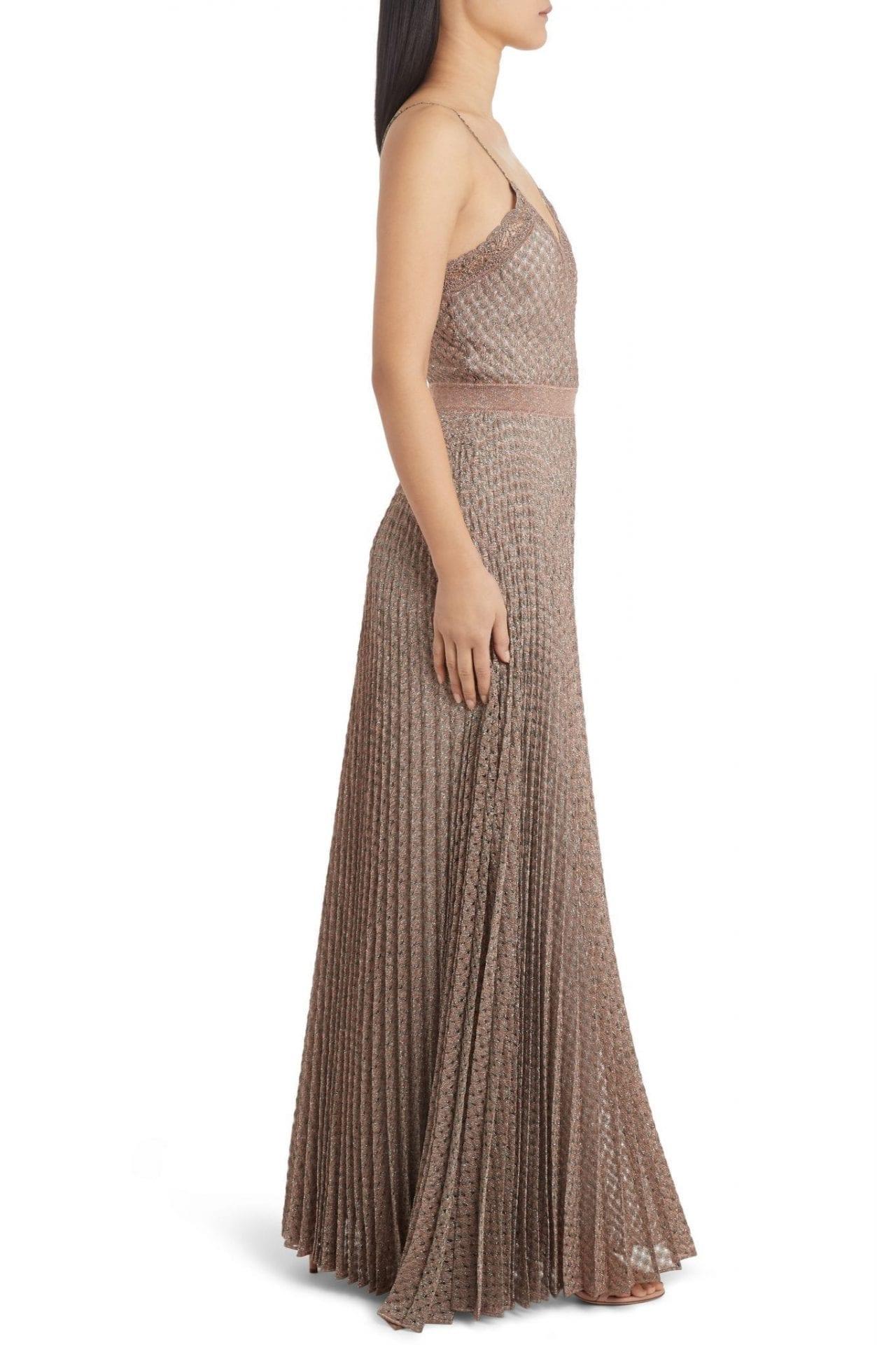 MISSONI Metallic Pointelle Gown
