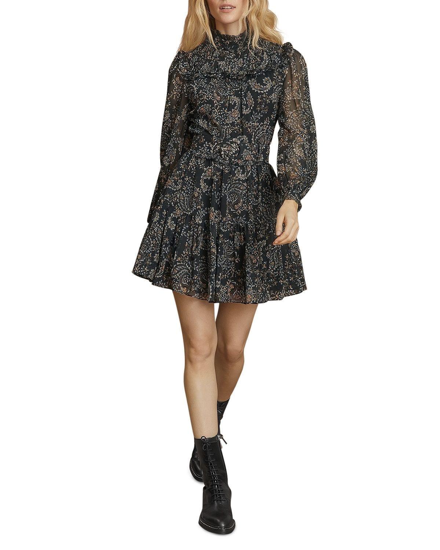 NICHOLAS Anya Printed Belted Dress