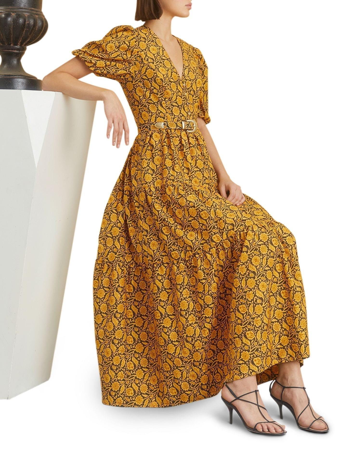 NICHOLAS Celie Floral Print Maxi Dress