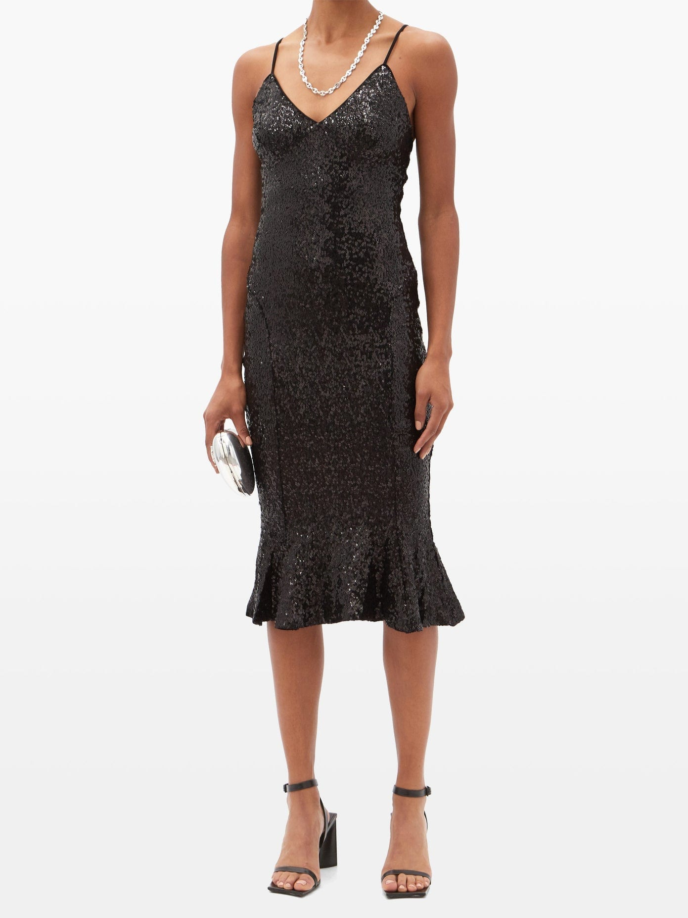 NORMA KAMALI Mermaid-hem Sequinned Jersey Dress