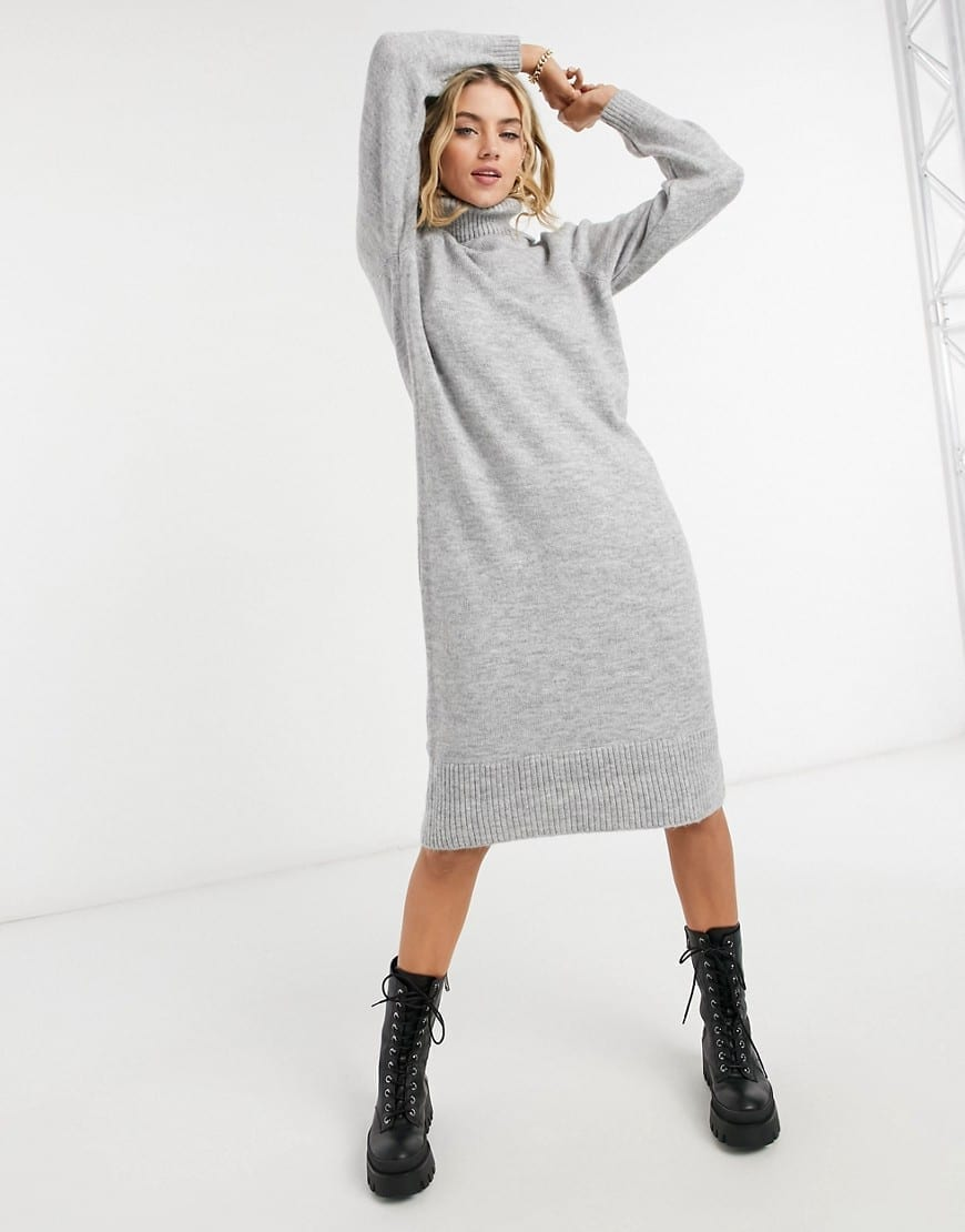 ONLY Roll Neck Knitted Maxi Dress