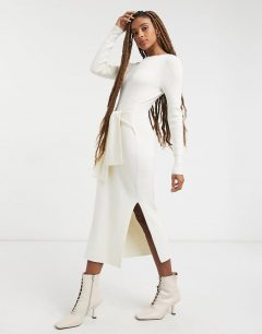 & OTHER STORIES Eco Ribbed Tie Waist Knitted Dress