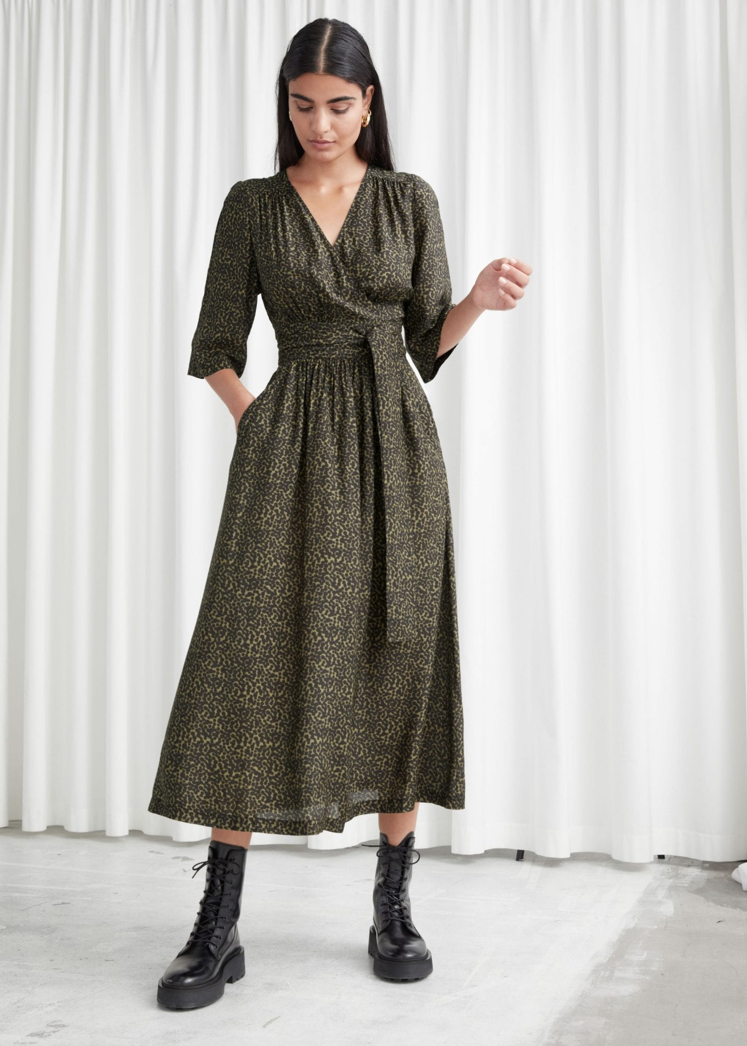 & OTHER STORIES Relaxed Belted Midi Wrap Dress