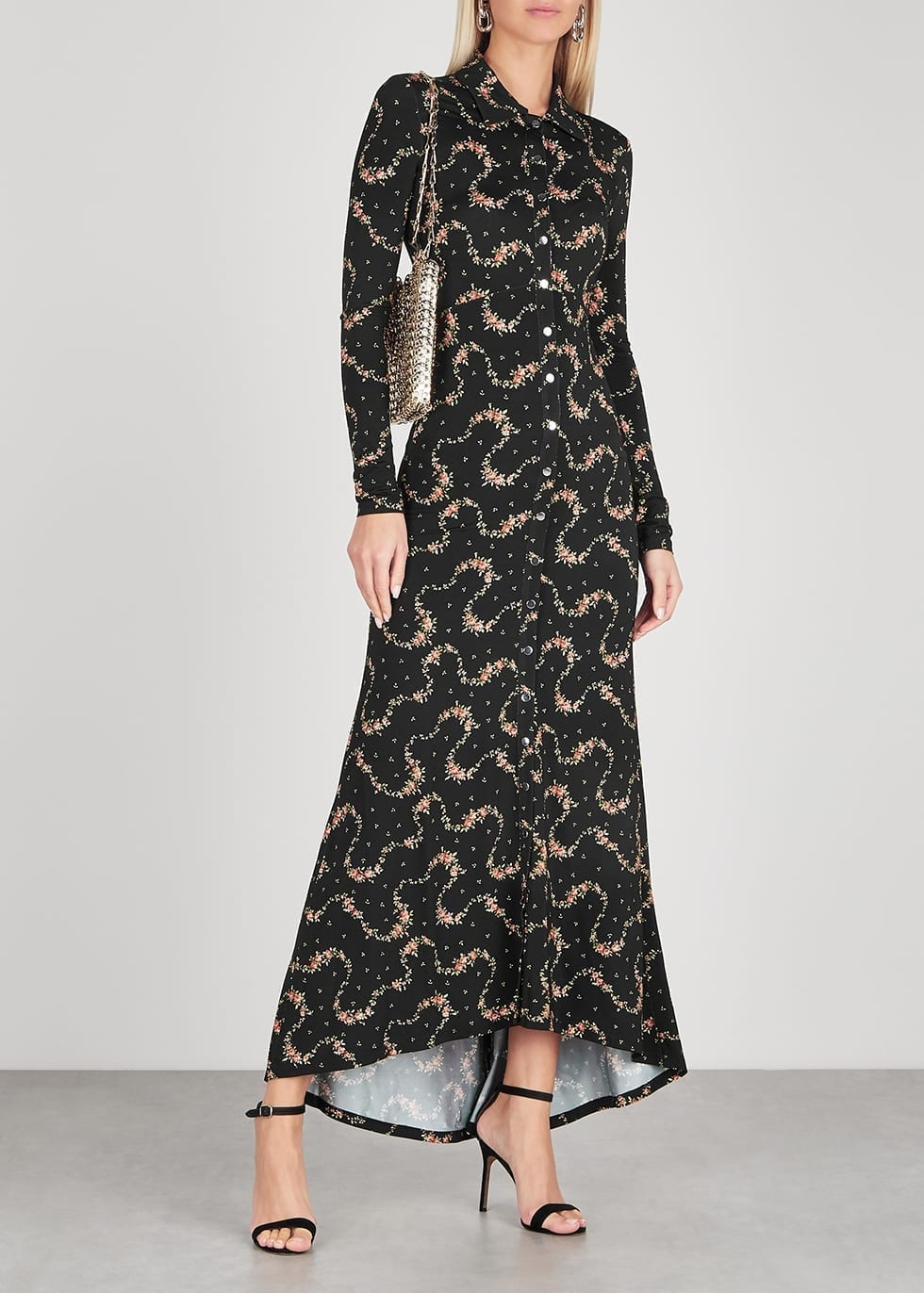 PACO RABANNE Floral-print Jersey Maxi Dress