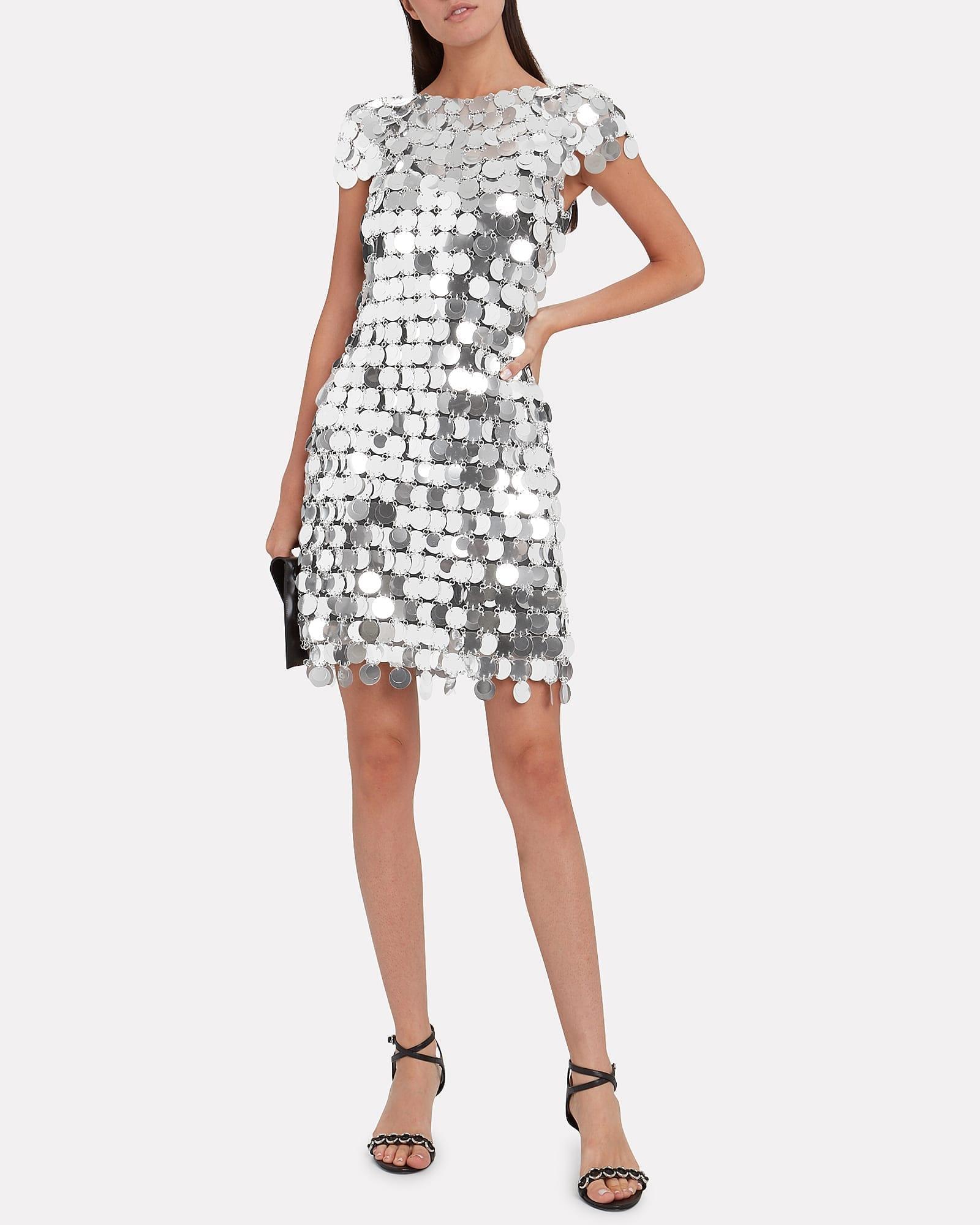 PACO RABANNE Pastilles Metallic Mini Dress