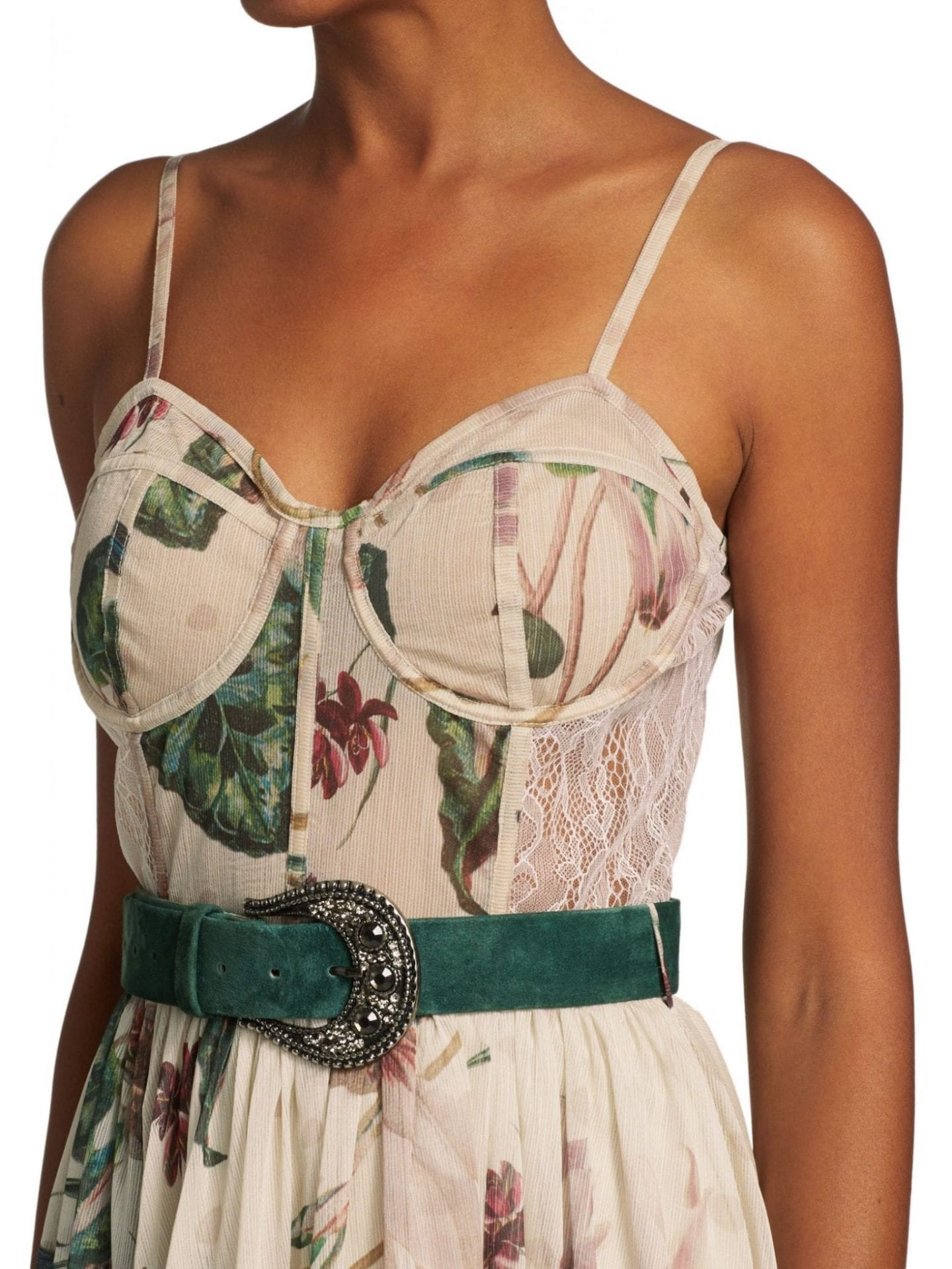 PATBO Sophia Belted Bustier Maxi Dress