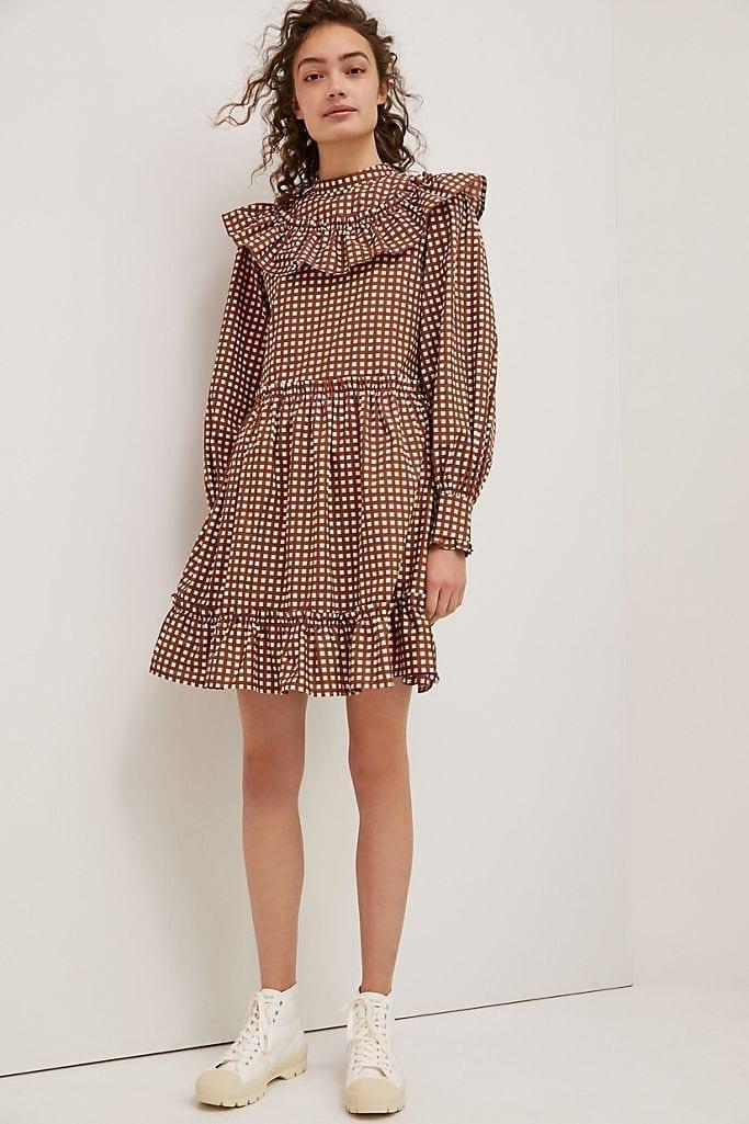 PORRIDGE Penny Gingham Mini Dress