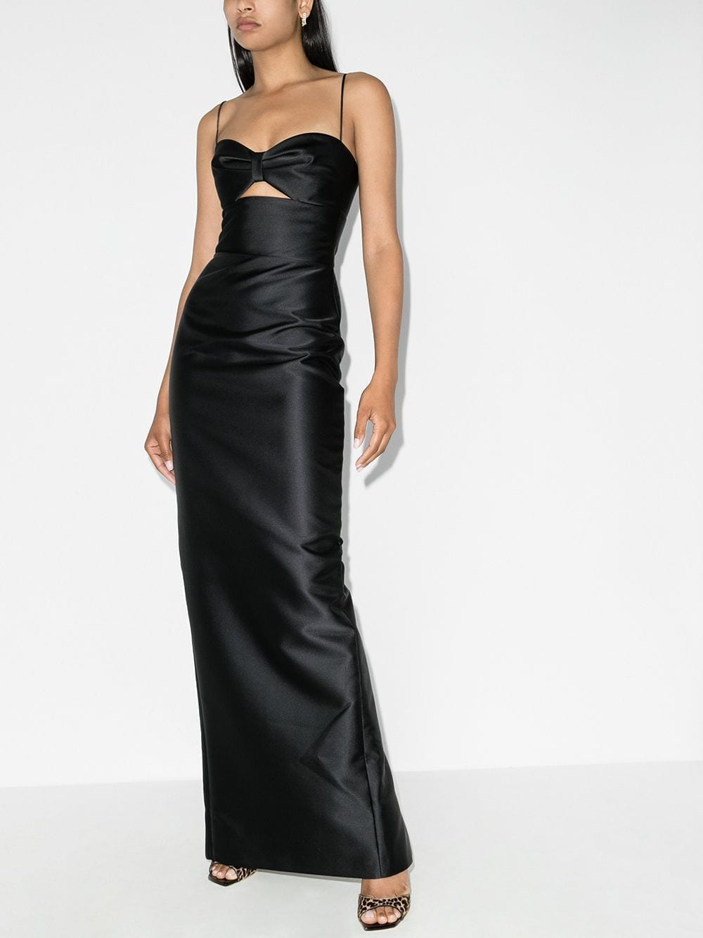 RASARIO Cut-out Sleek Gown