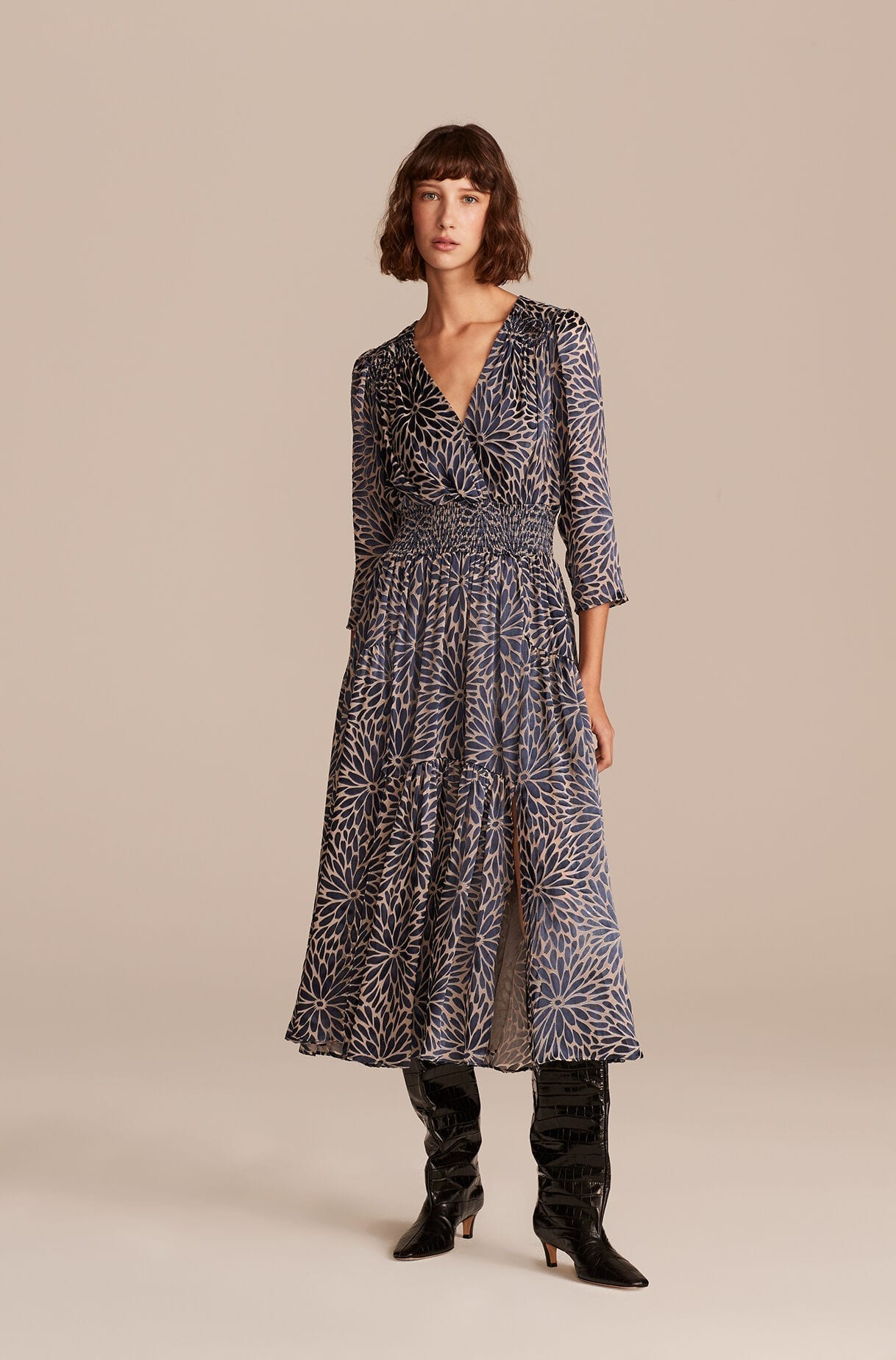 REBECCA TAYLOR Autumn Bloom Long Dress