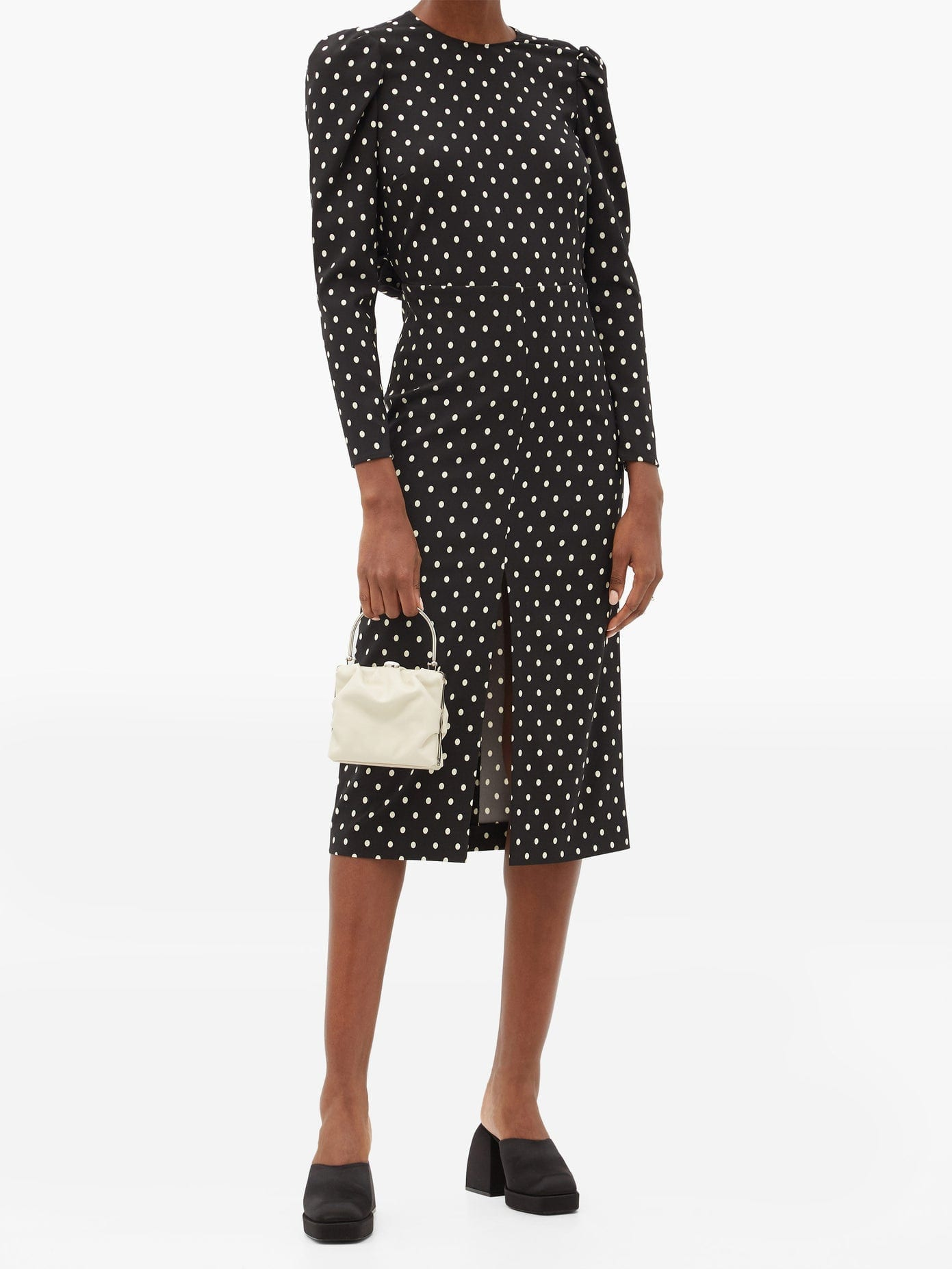 REDVALENTINO Open-back Polka-dot Crepe Dress