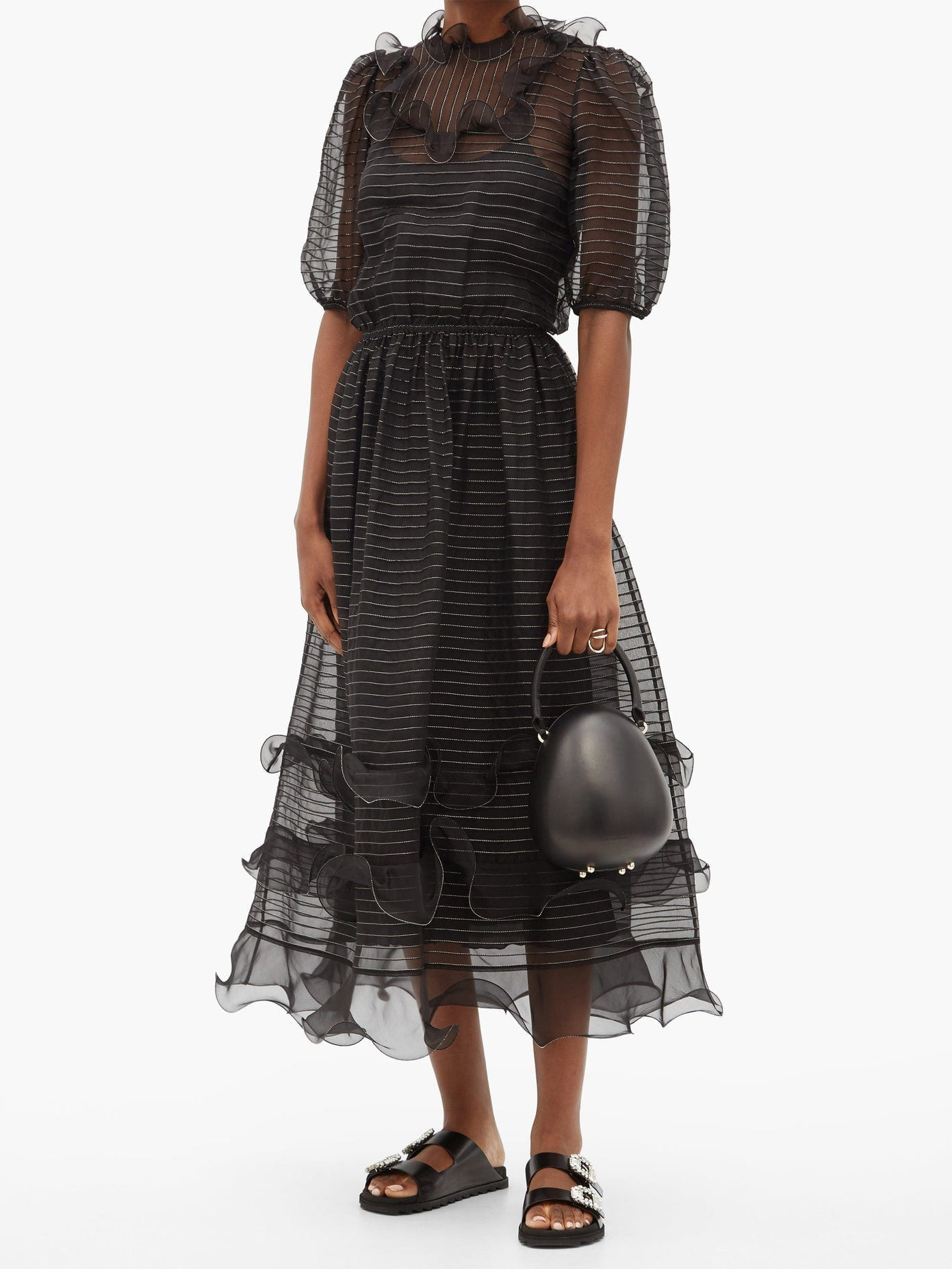REDVALENTINO Ruffled Silk-organza Dress