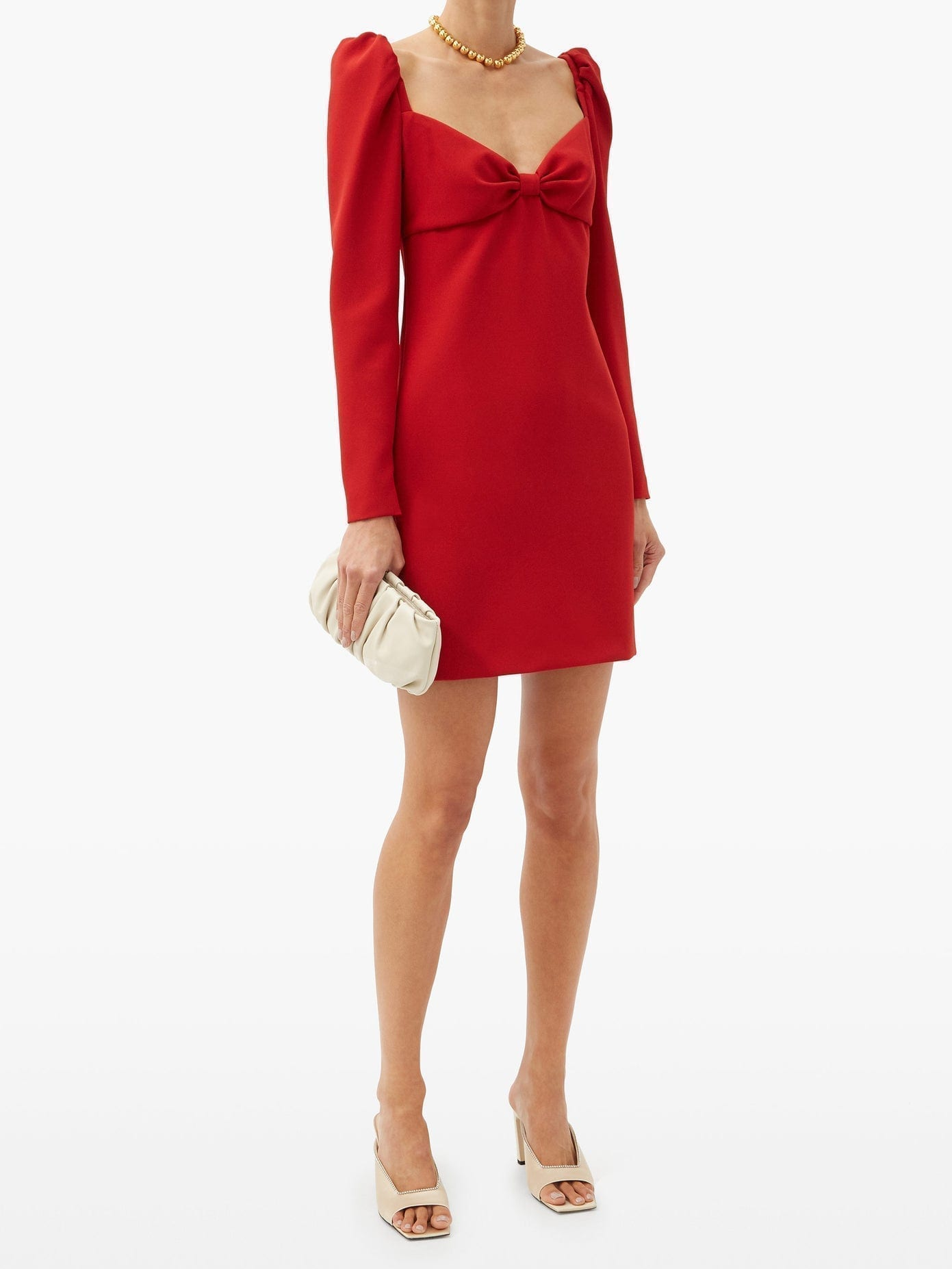 REDVALENTINO Sweetheart-neck Crepe Mini Dress