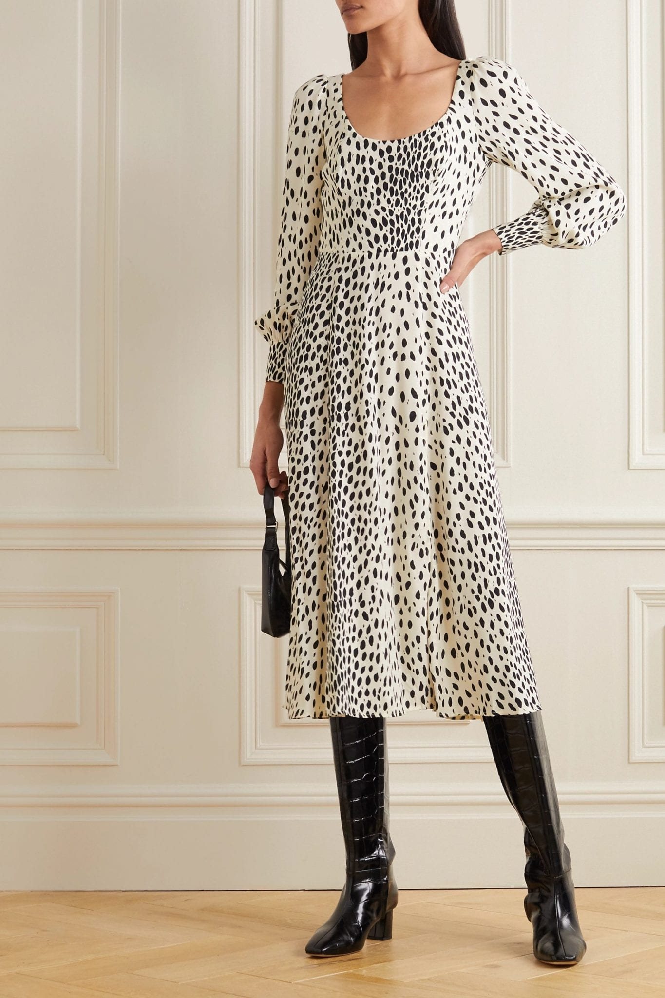 REFORMATION Alessi Cheetah-print Crepe Midi Dress