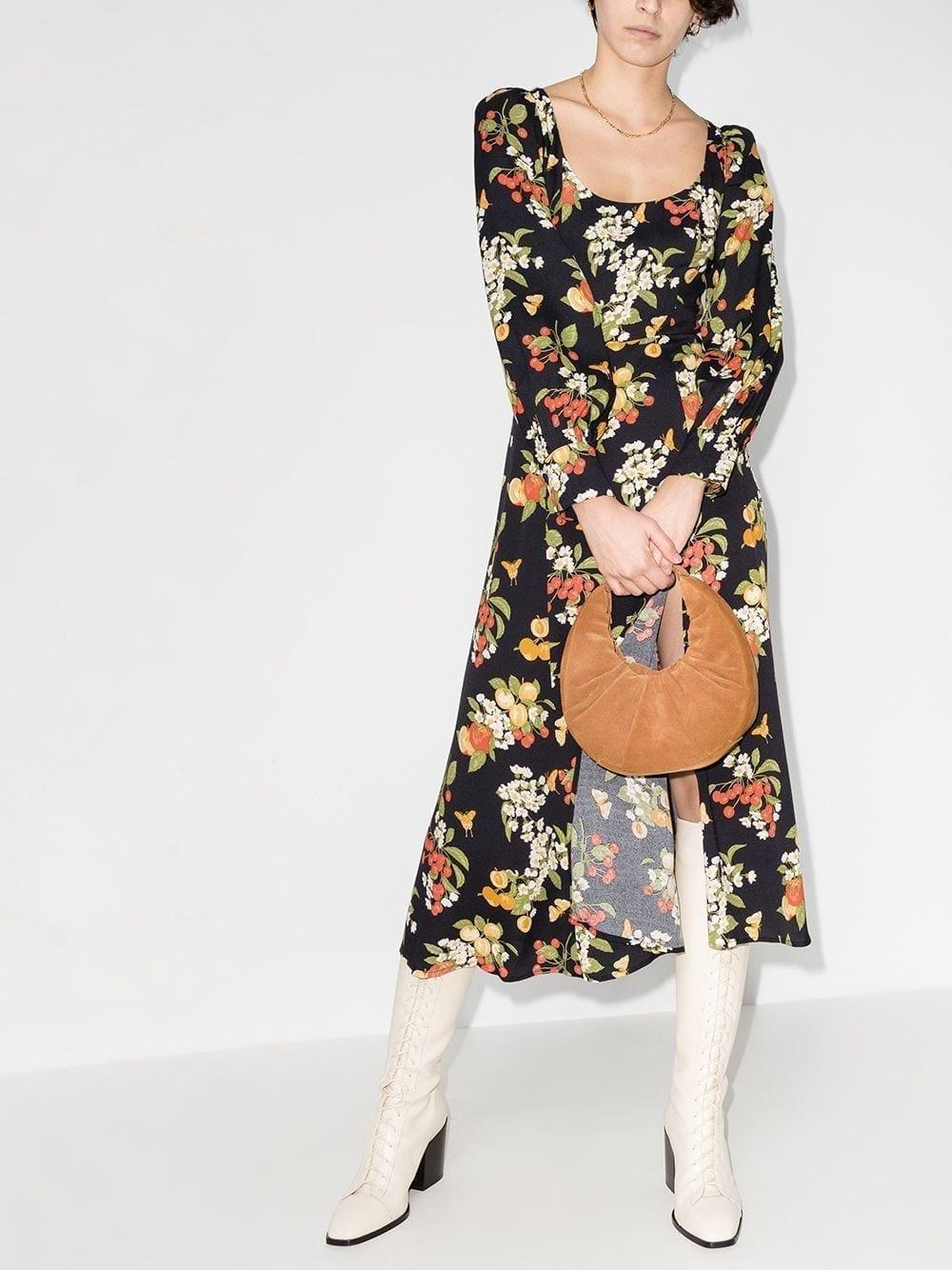 REFORMATION Alessi Fruit-print Midi Dress