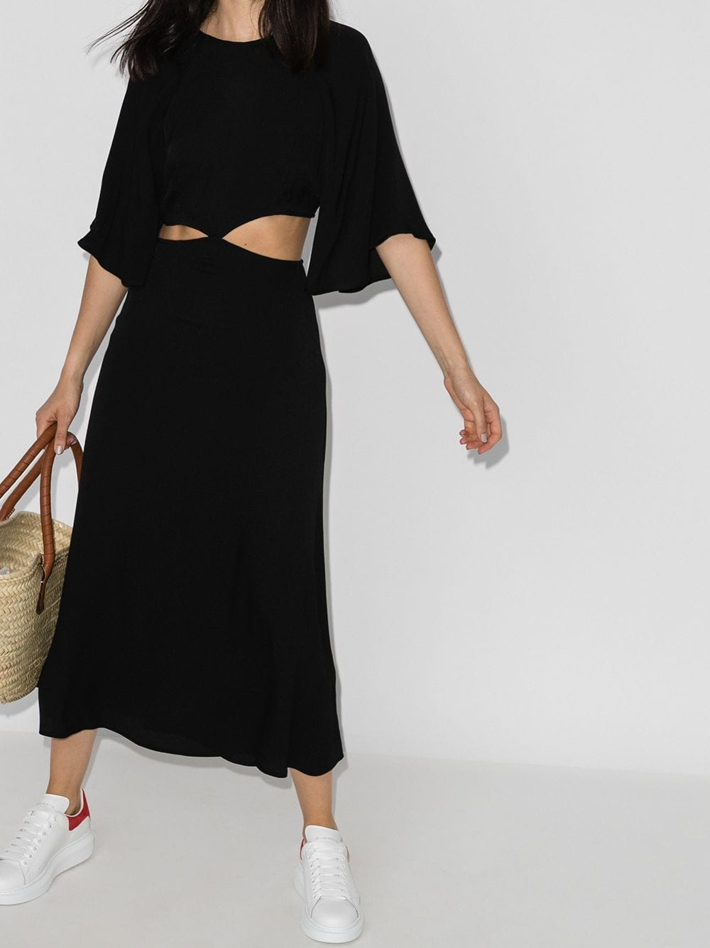 REFORMATION Benny Cut-out Midi Dress