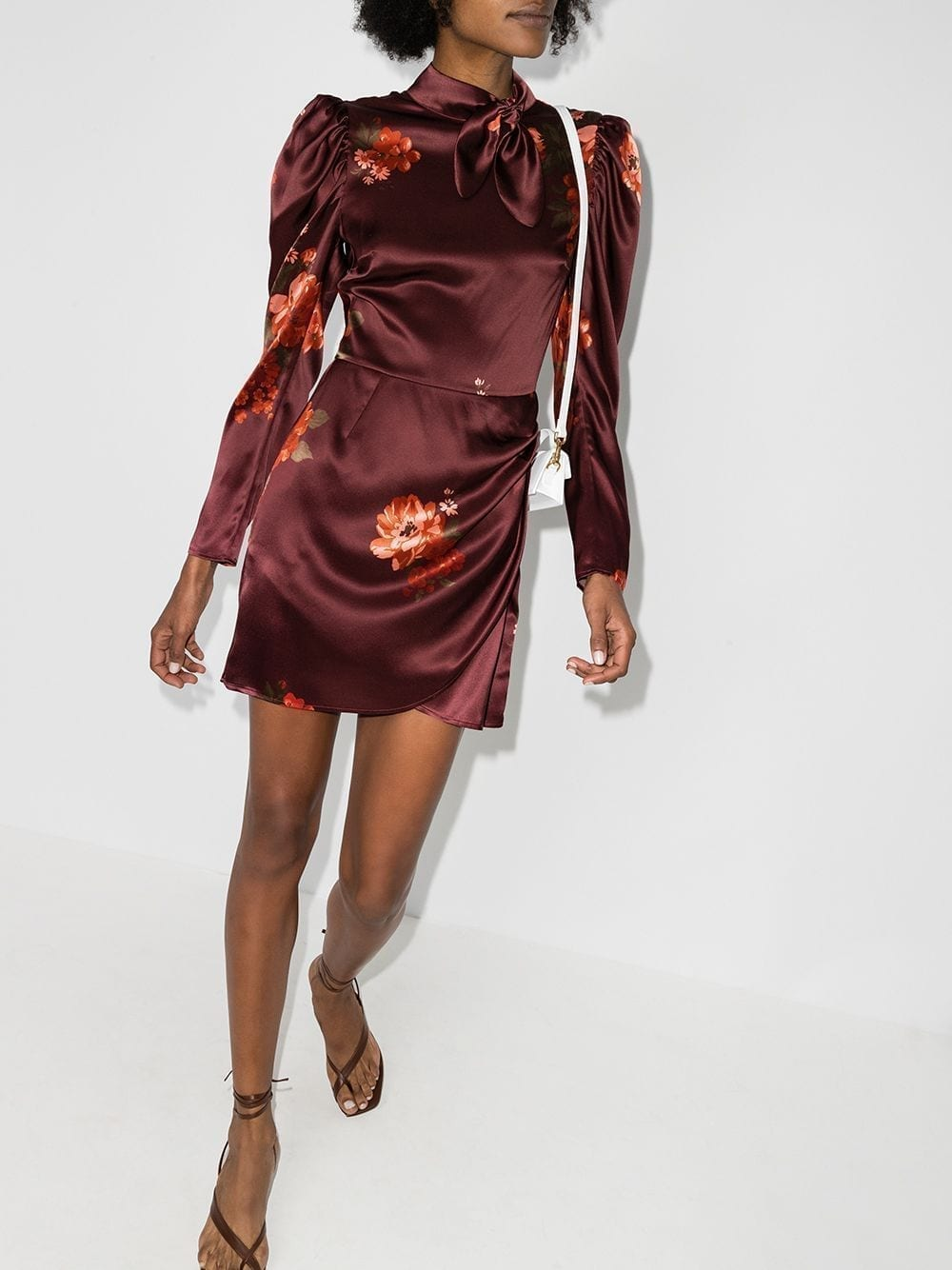 REFORMATION Livie Floral-print Silk Dress