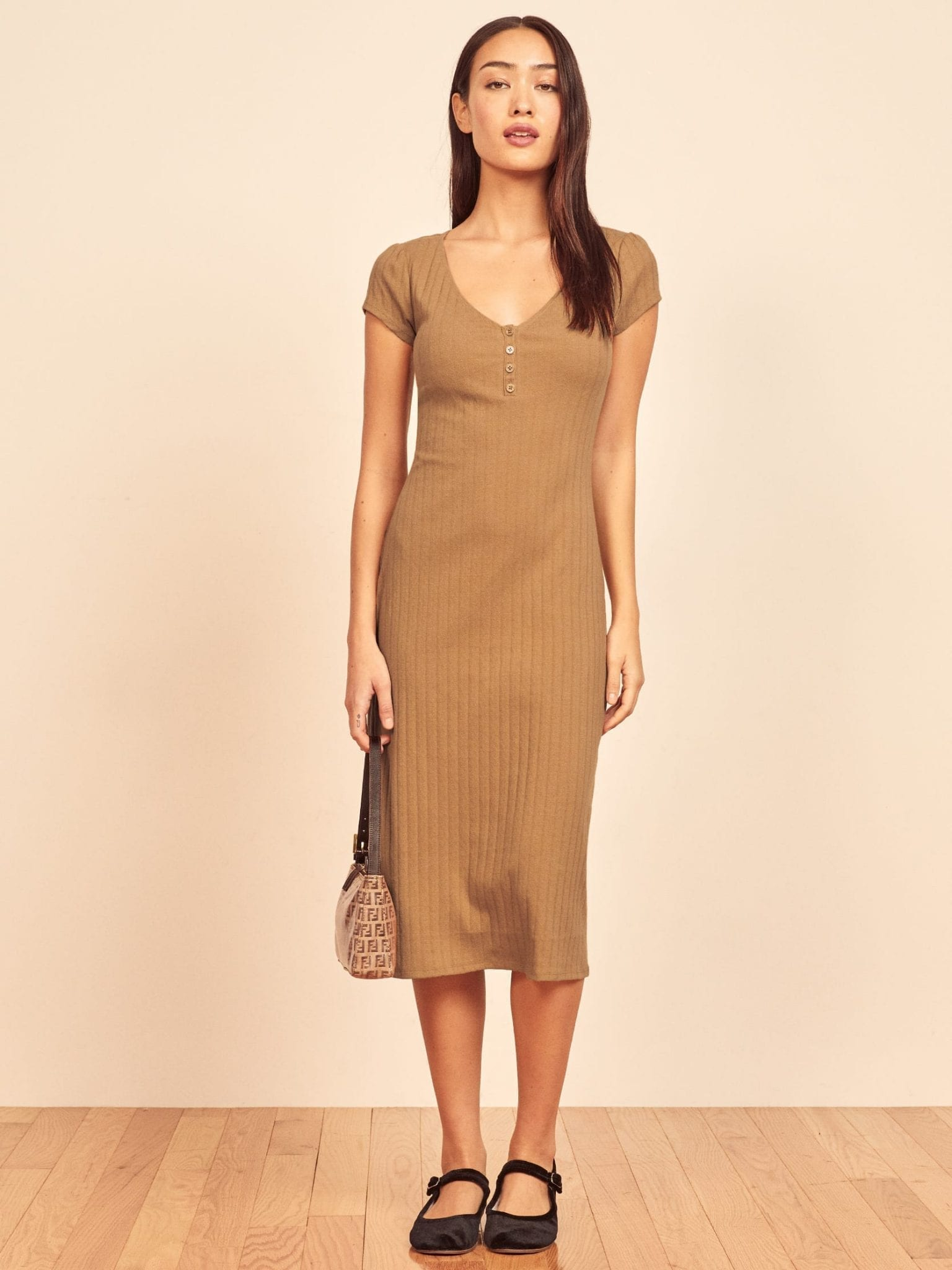 REFORMATION Lucy Pointelle Dress