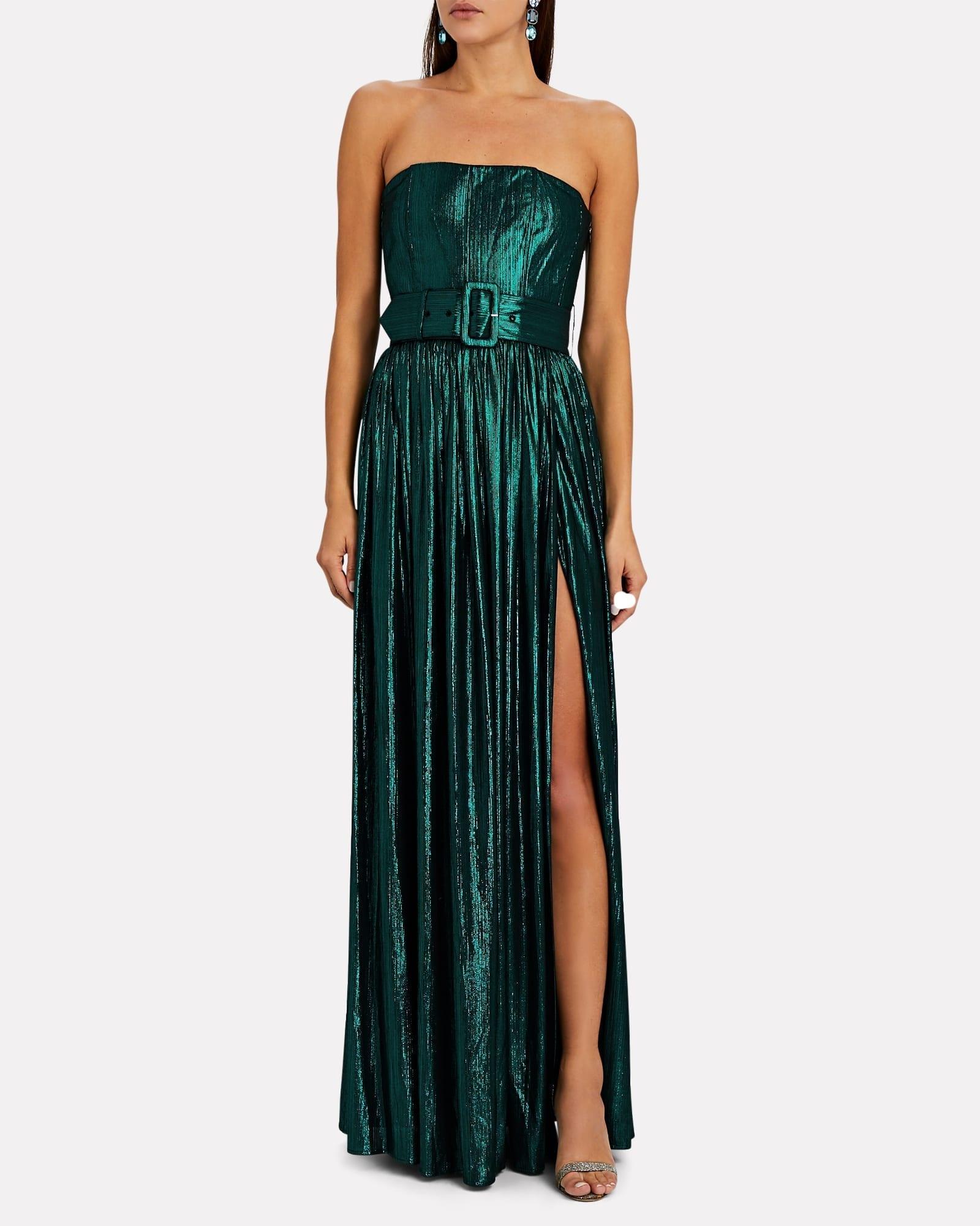 RETROFÊTE Jaden Strapless Lamé Gown