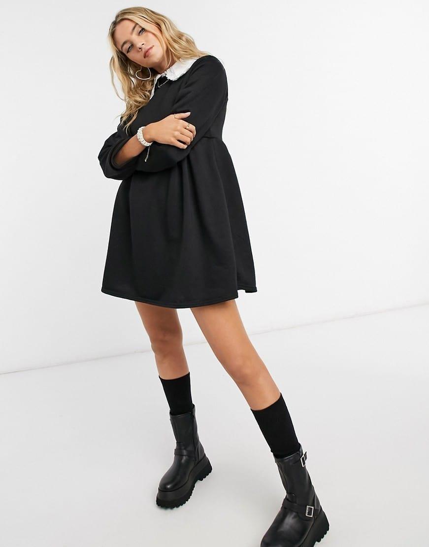 ROKOKO Relaxed Sweatshirt Smock Dress