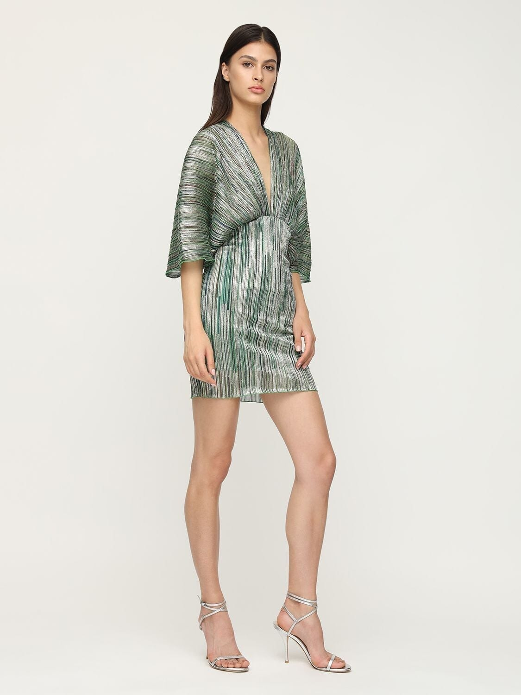 ROTATE Ester Lurex Mini Dress