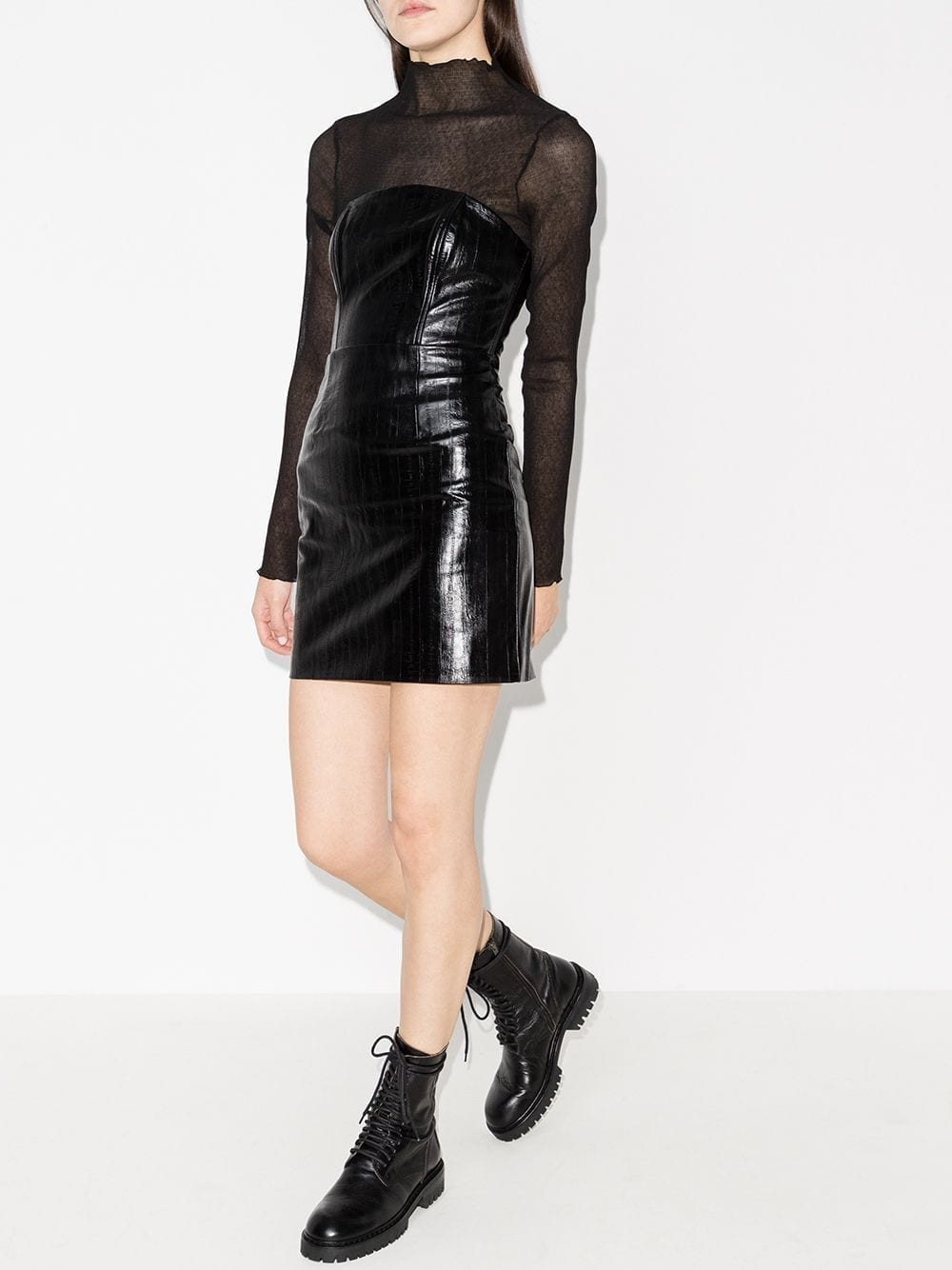 ROTATE Herla Vegan Leather Mini Dress