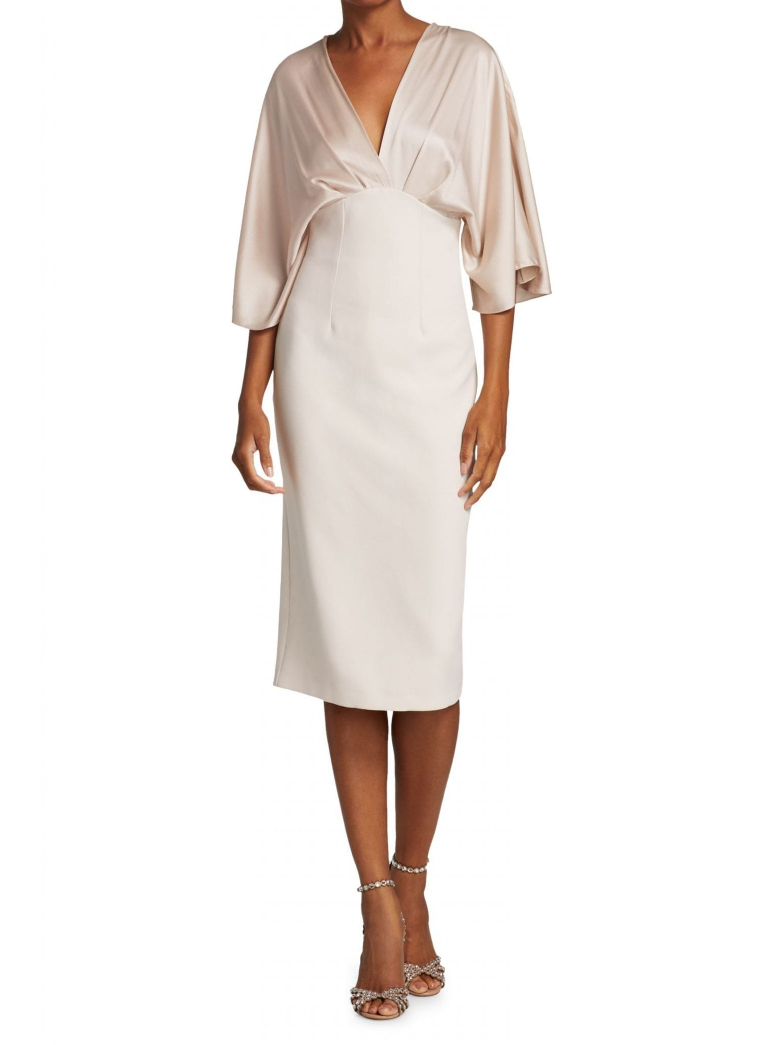 SAFIYAA Ionie Fluid Silk Crepe Cocktail Dress