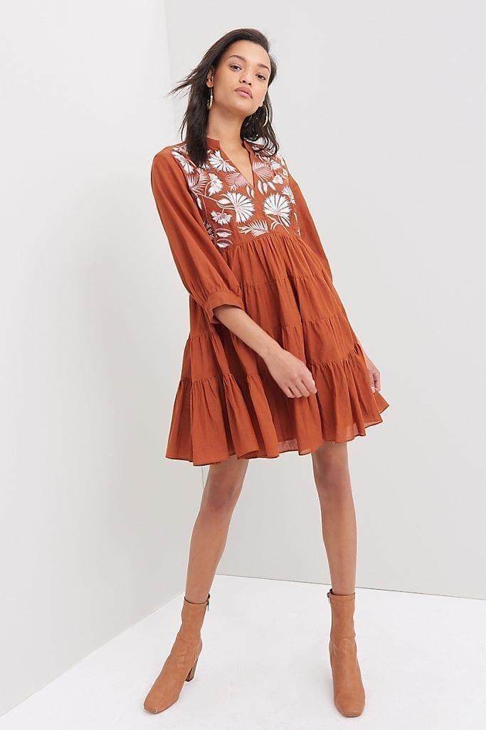SAMANT CHAUHAN Apolline Embroidered Tunic Dress