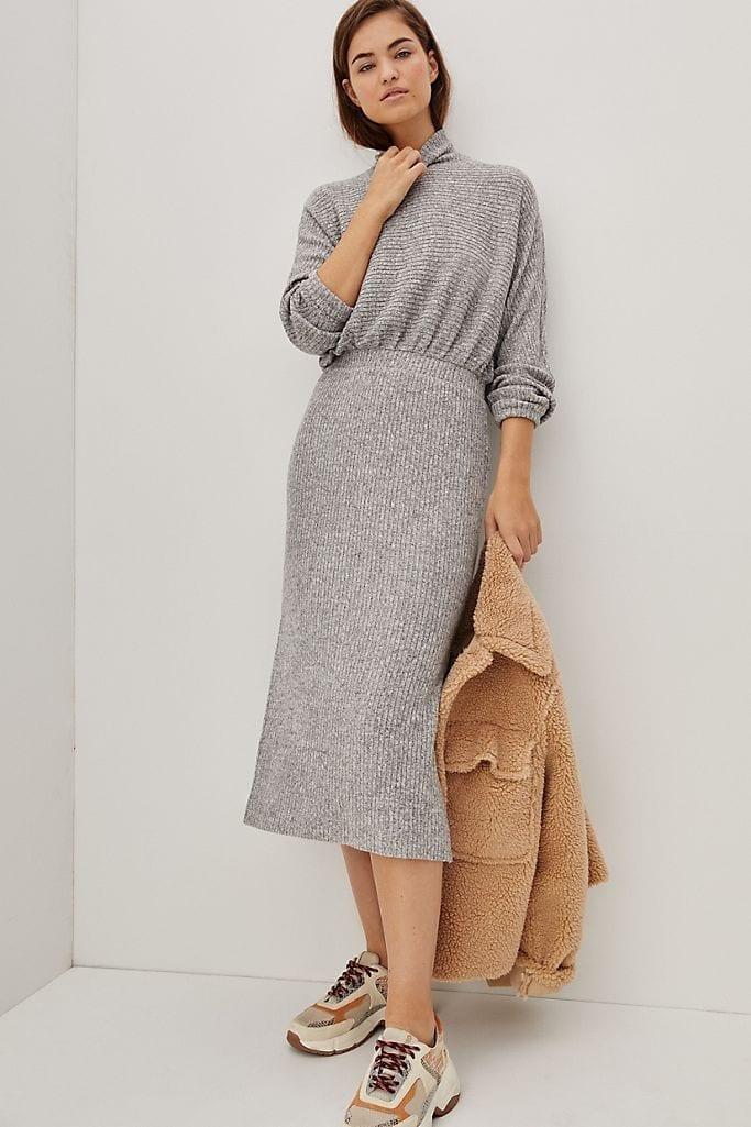 SATURDAY SUNDAY Mariah Ribbed Knit Maxi Dress