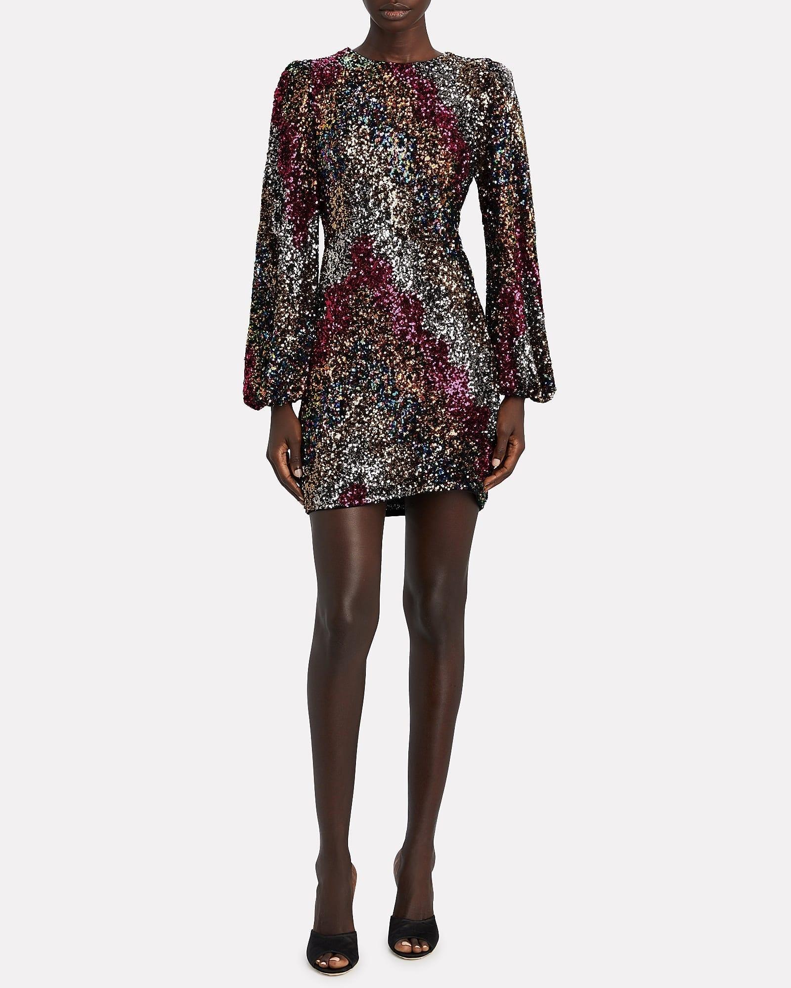 SAYLOR Alessandra Sequinned Mini Dress