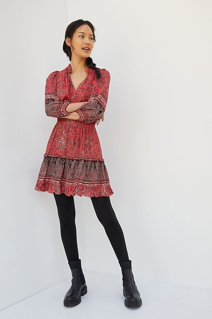 SHOSHANNA Callie Paisley Mini Dress