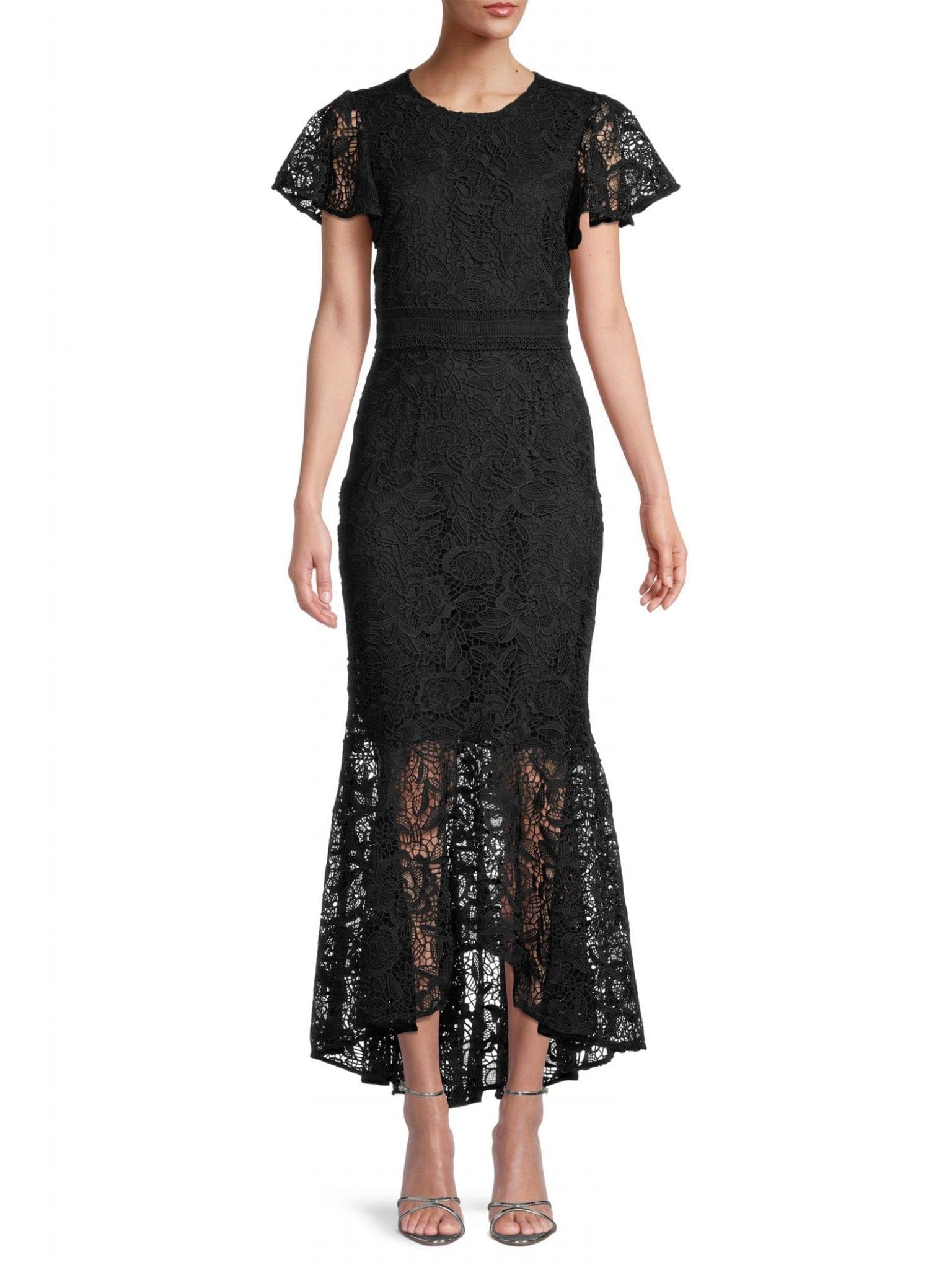 SHOSHANNA Wilton Lace High-Low Dress