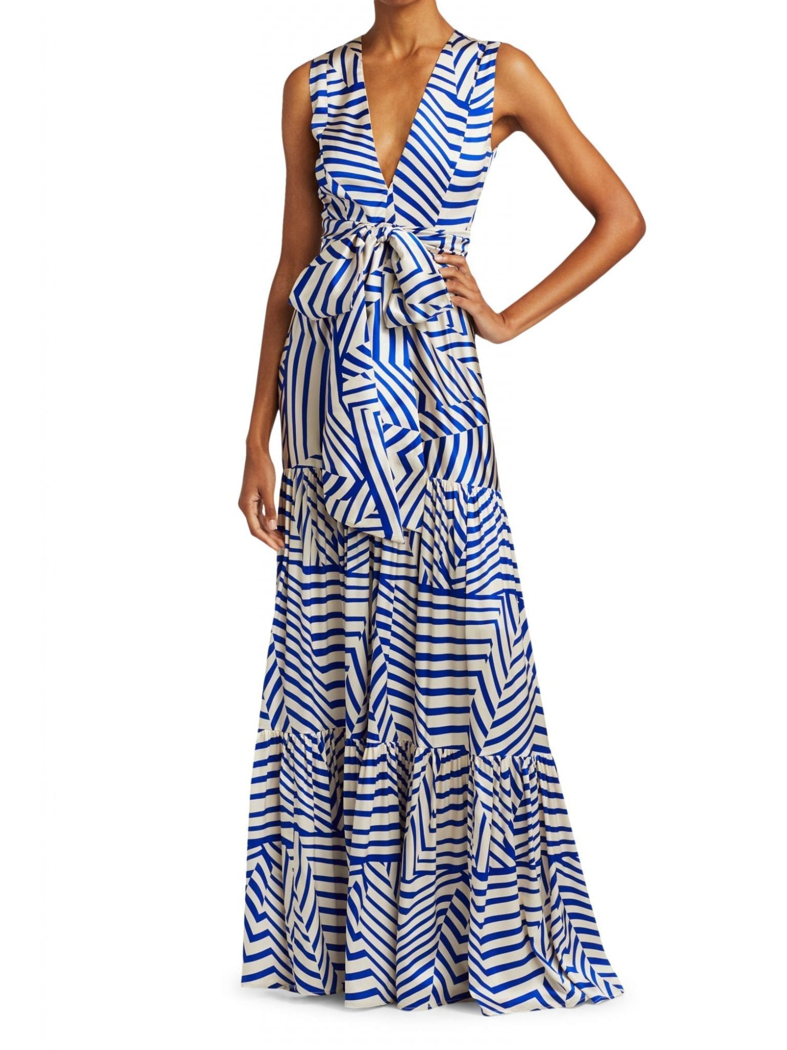 SILVIA TCHERASSI Polly Striped Maxi Dress