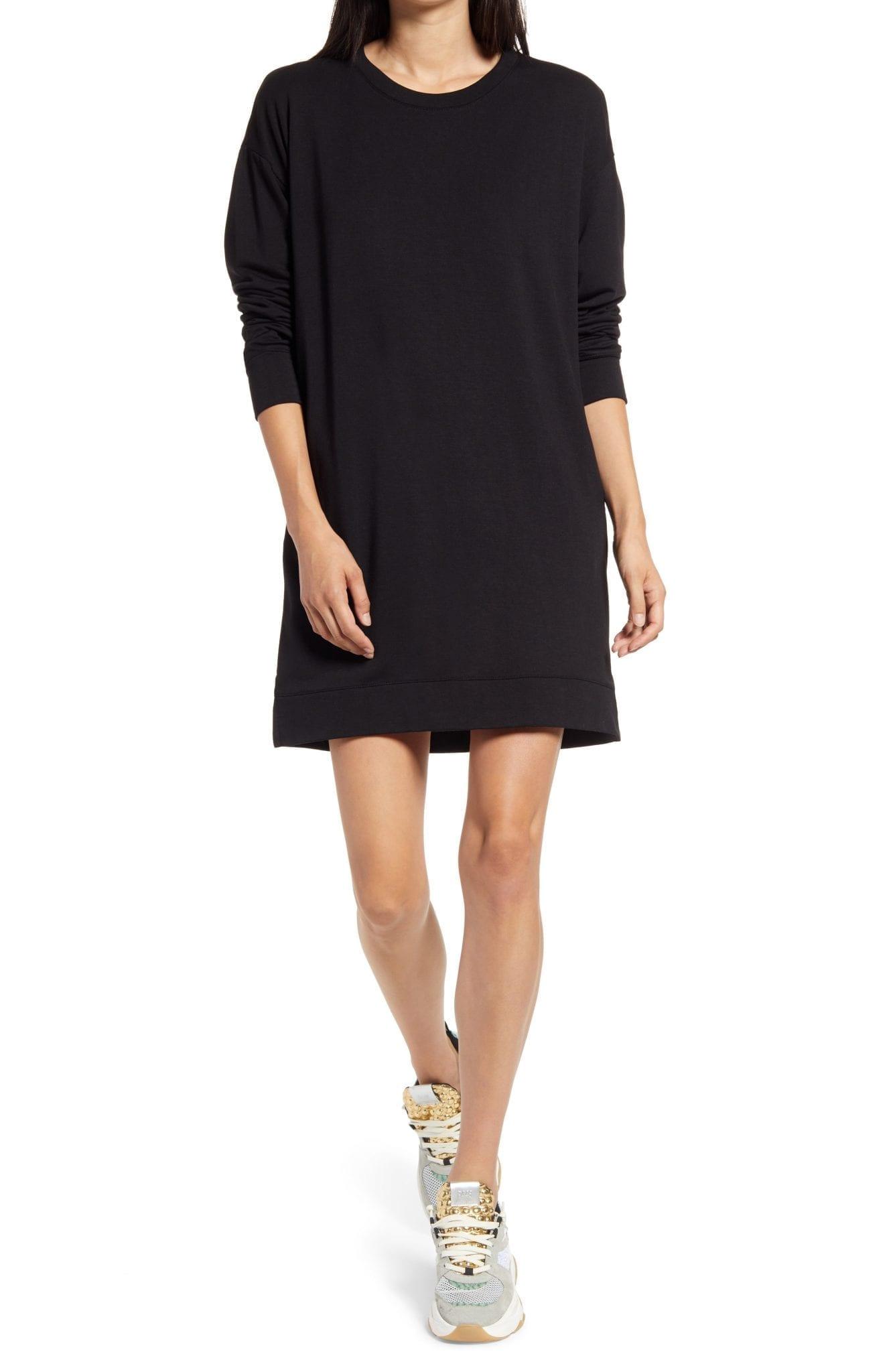 SOCIALITE Long Sleeve Sweatshirt Mini Dress