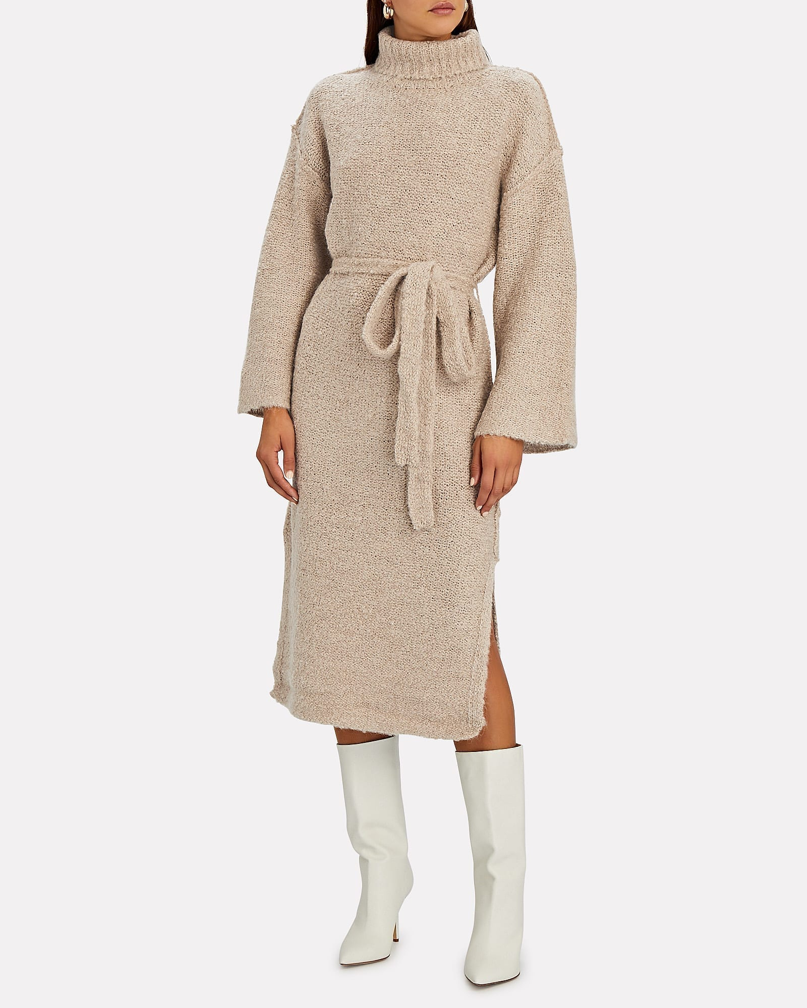 STAUD Chalet Turtleneck Sweater Dress