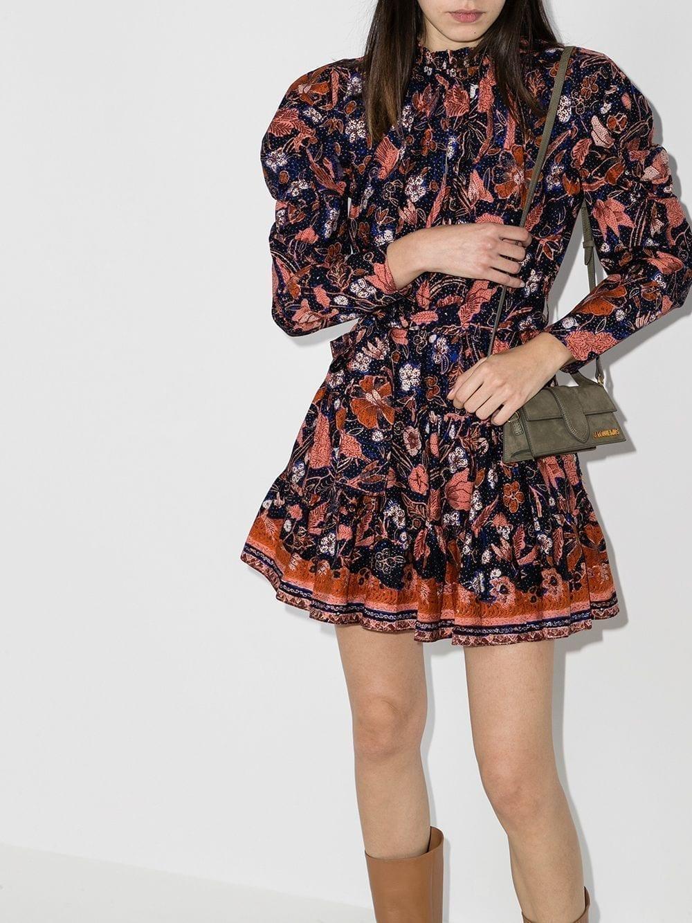 ULLA JOHNSON Naima Floral-print Mini Dress