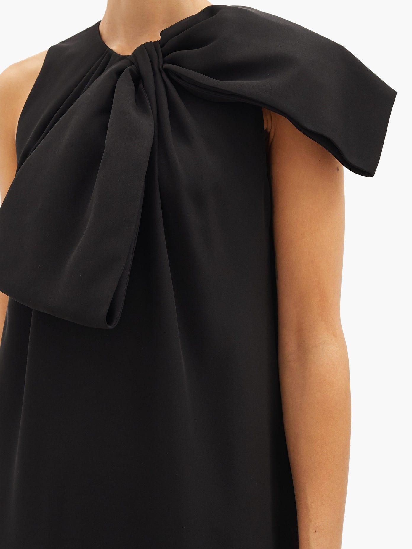 VALENTINO Bow Silk-cady Gown