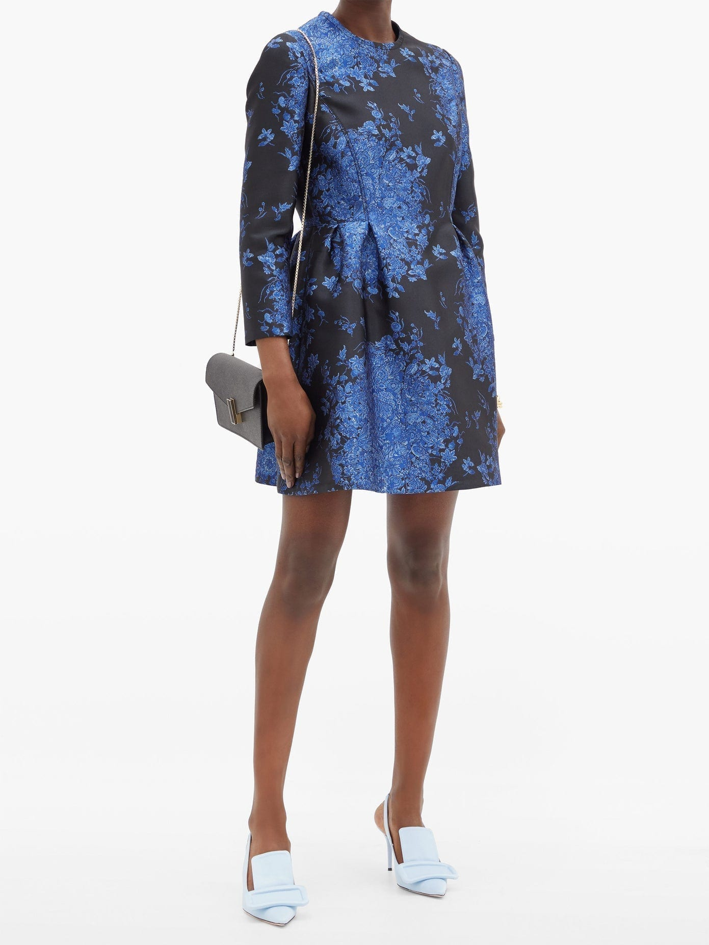 VALENTINO Delft-brocade Mini Dress